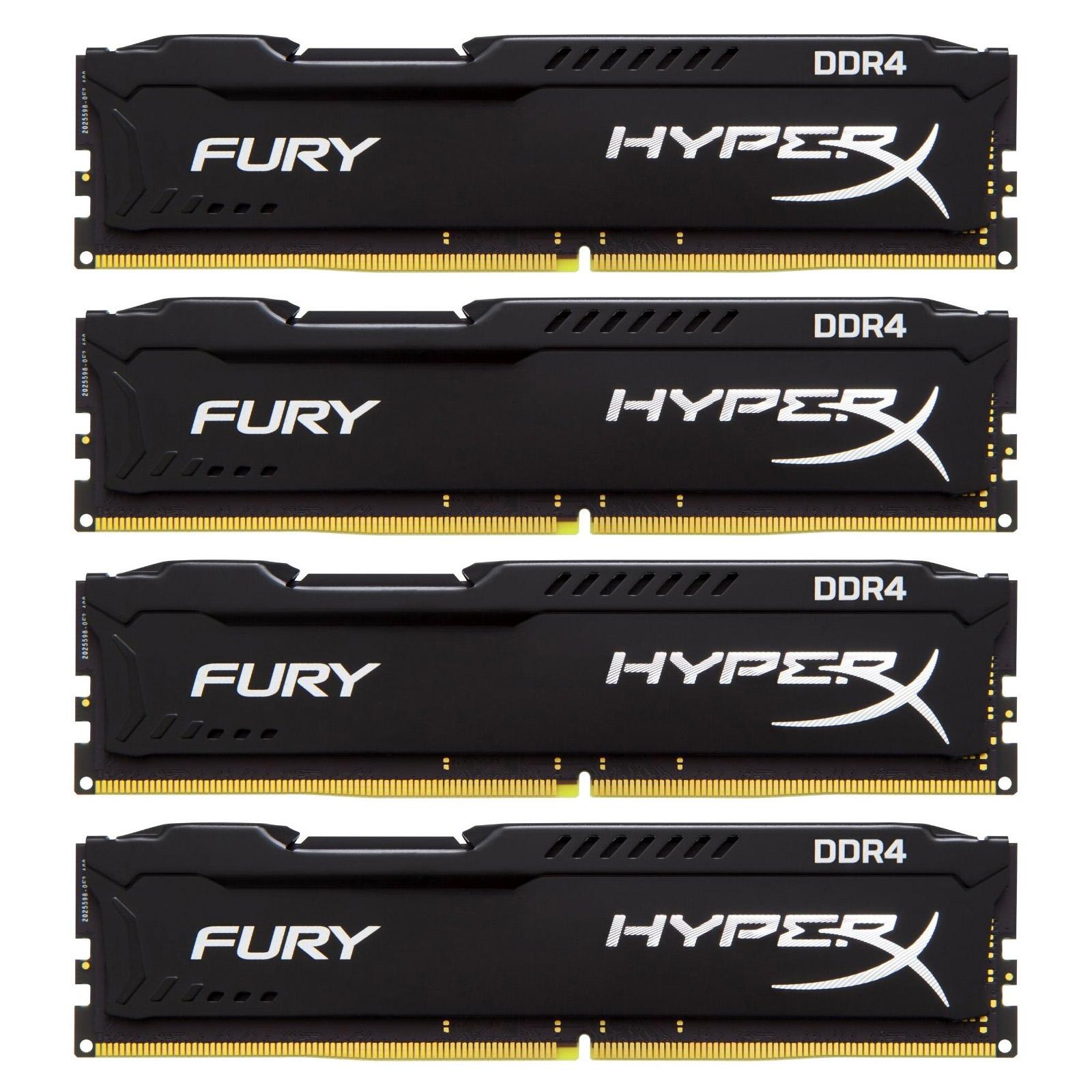 Модуль памяти для компьютера DDR4 32GB (4x8GB) 2400 MHz HyperX FURY Black Kingston (HX424C15FB2K4/32)