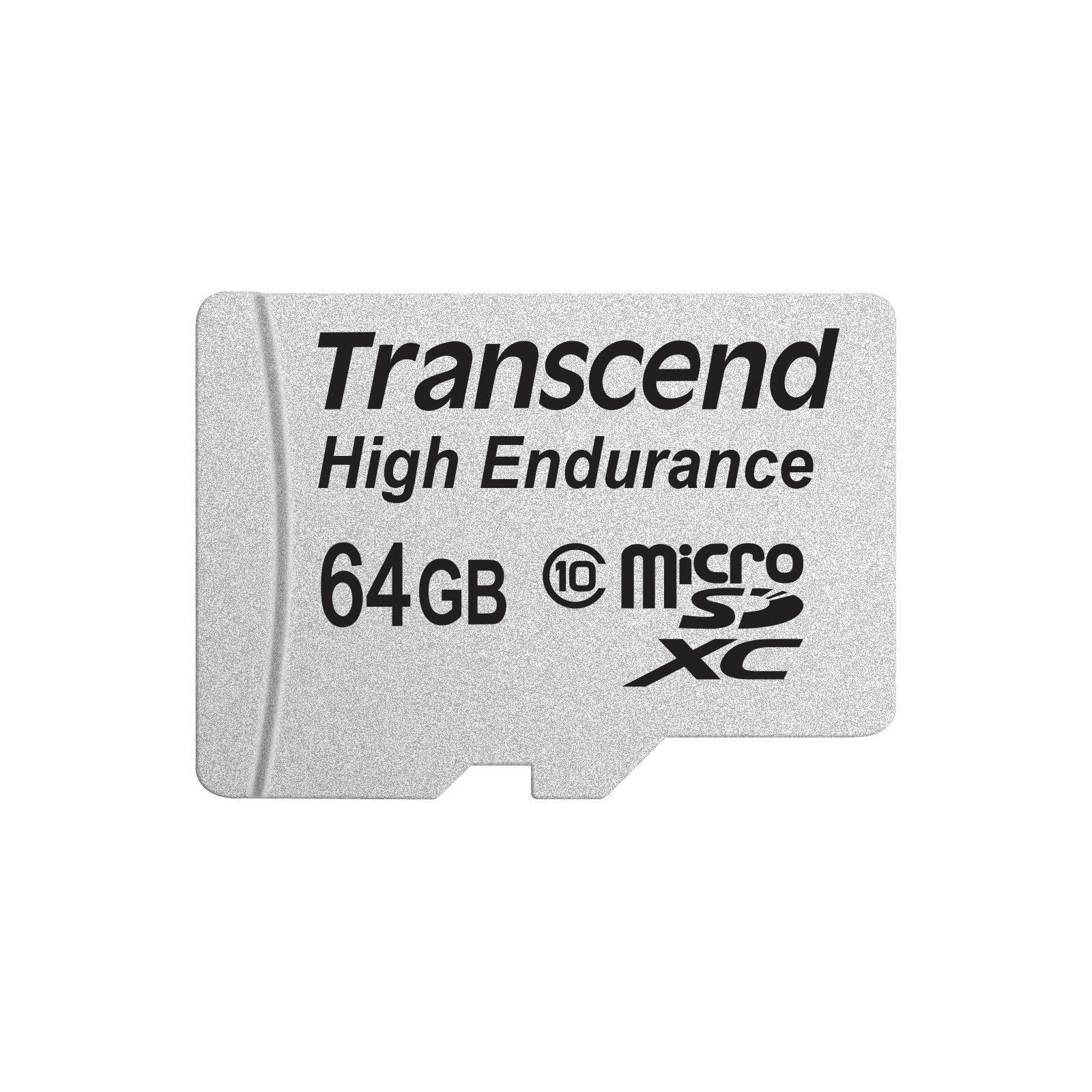 Карта памяти Transcend 64GB microSDXC Class 10 High Endurance + ad (TS64GUSDXC10V)