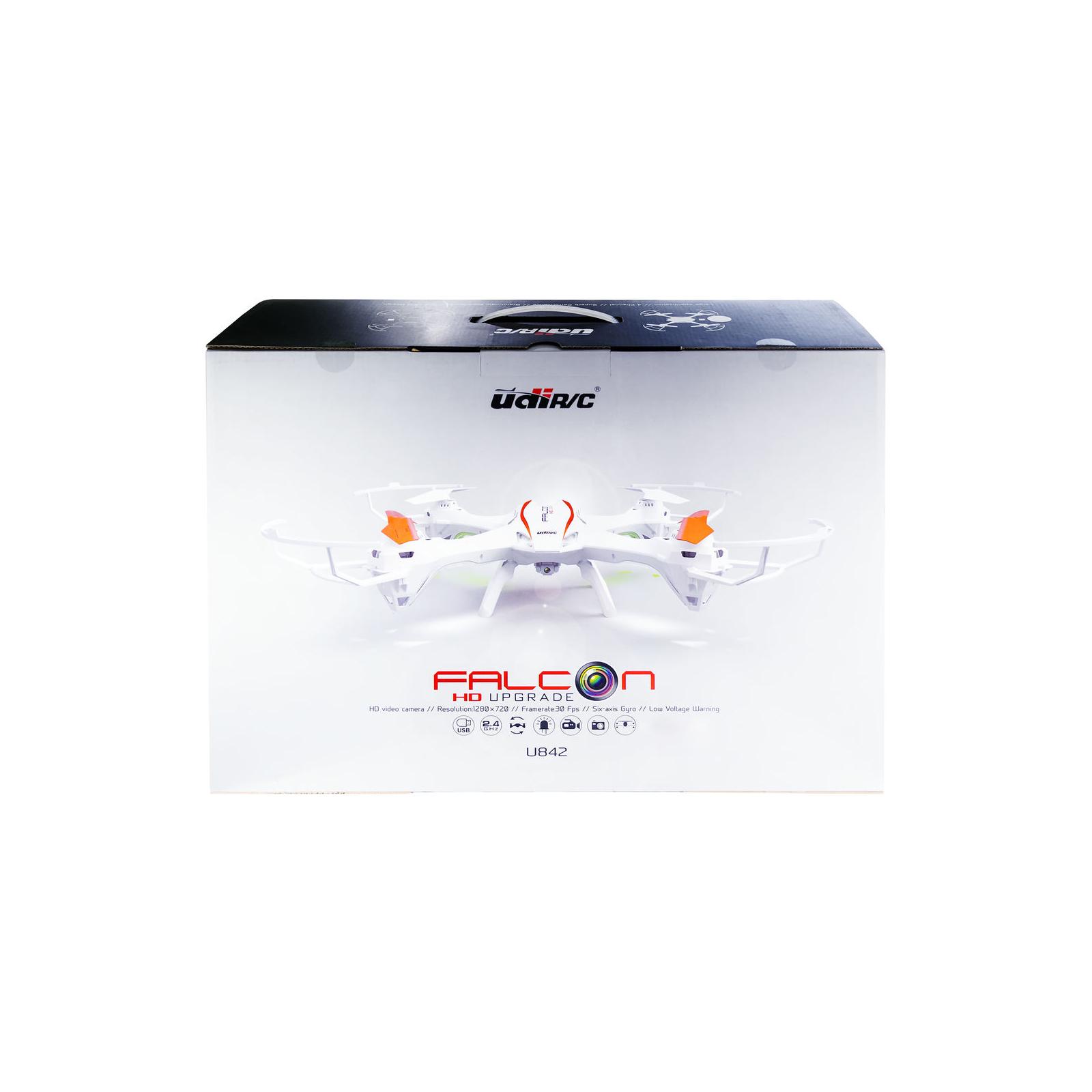 Квадрокоптер UDIRC U842 FALCON 2,4 GHz 486 мм HD бортовая камера 4CH (U842 White) изображение 6
