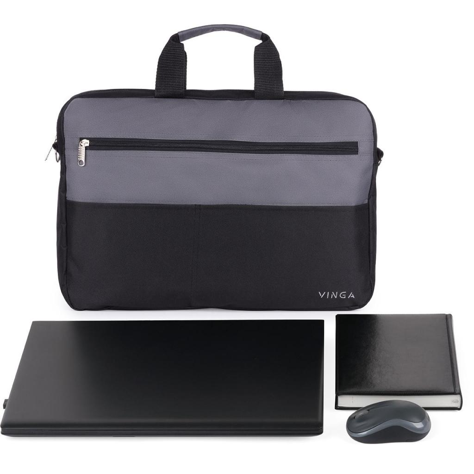 "Сумка для ноутбука Vinga 15.6"" NB177GB gray-black (NB177GB) изображение 2"