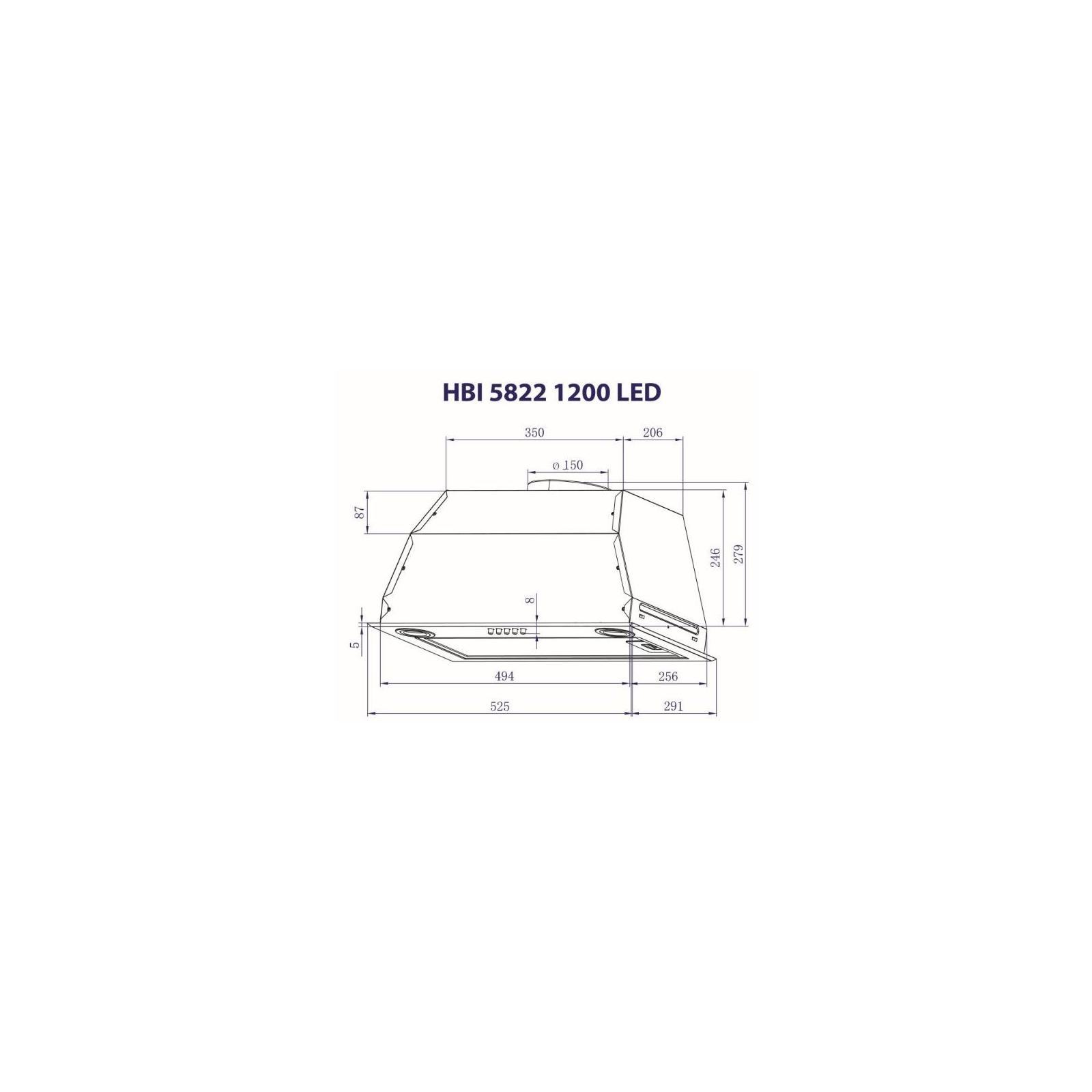 Вытяжка кухонная MINOLA HBI 5822 BL 1200 LED изображение 8