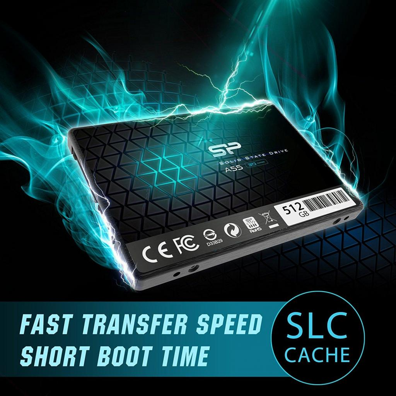 "Накопитель SSD 2.5"" 512GB Silicon Power (SP512GBSS3A55S25) изображение 4"