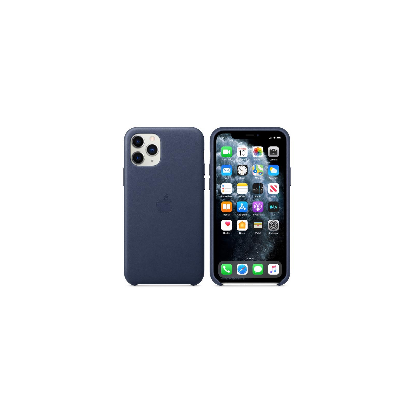 Чехол для моб. телефона Apple iPhone 11 Pro Leather Case - Midnight Blue (MWYG2ZM/A) изображение 6