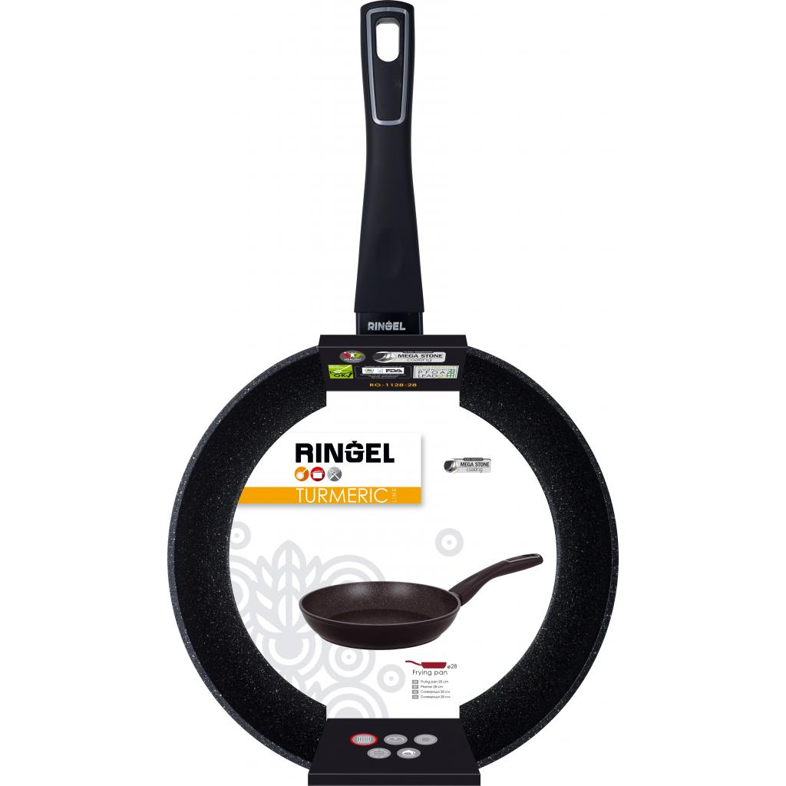 Сковорода Ringel Turmeric 22 см (RG-1128-22) изображение 2