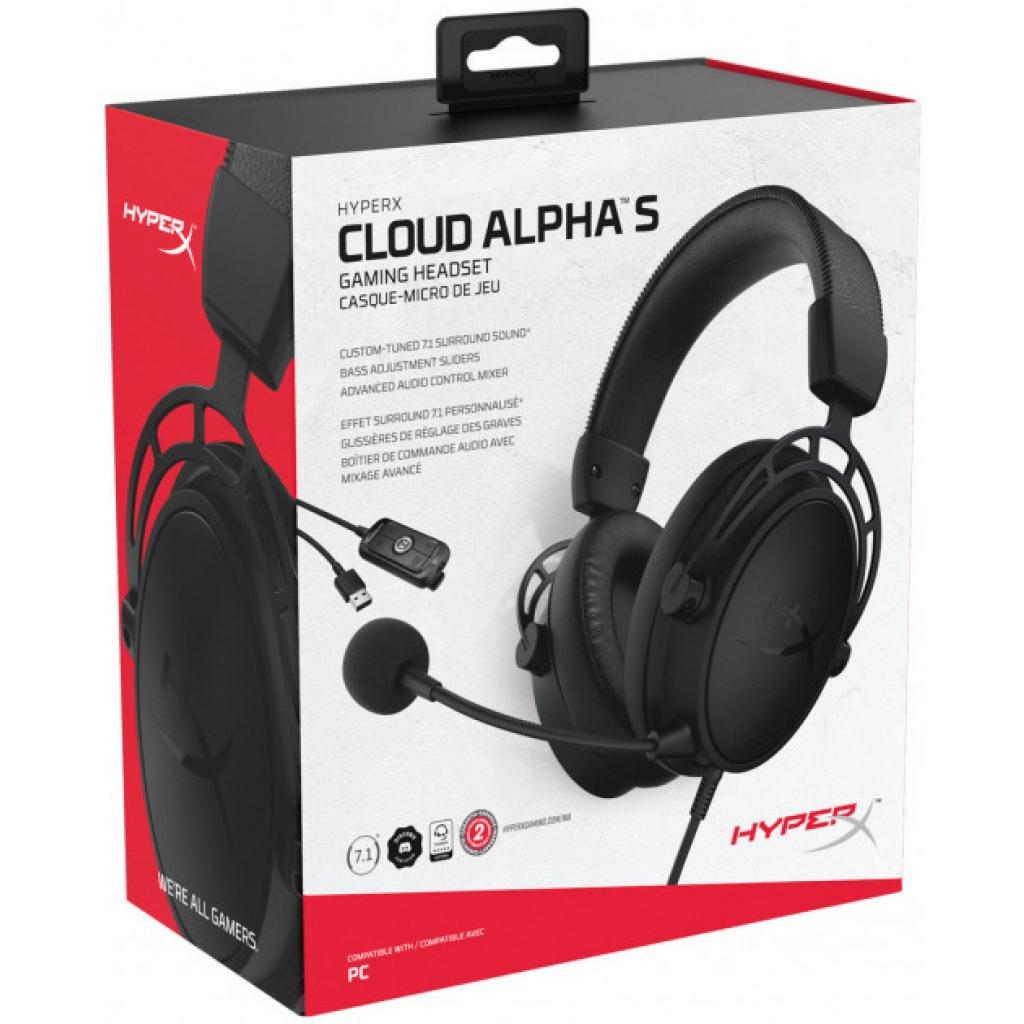 Навушники HyperX Cloud Alpha S Blackout (HX-HSCAS-BK/WW) зображення 8