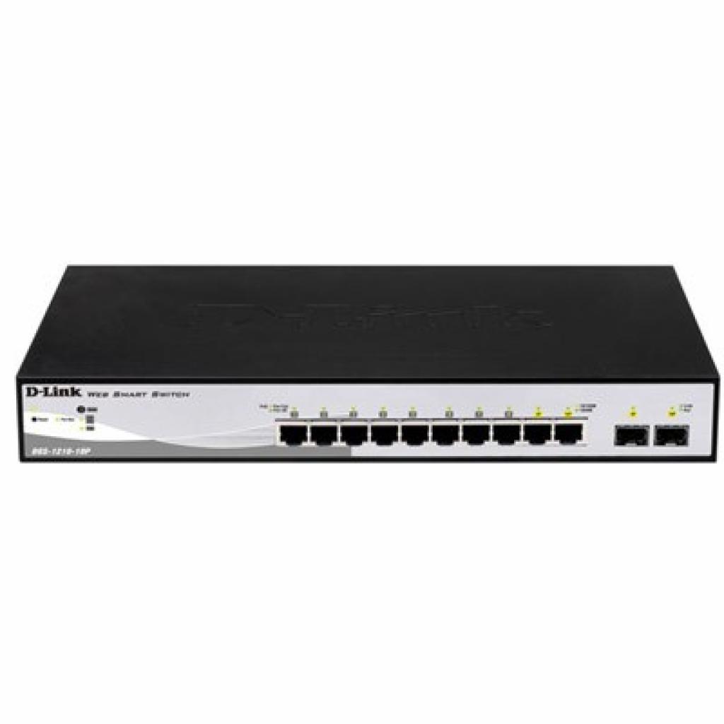 Коммутатор сетевой D-Link DGS-1210-10P