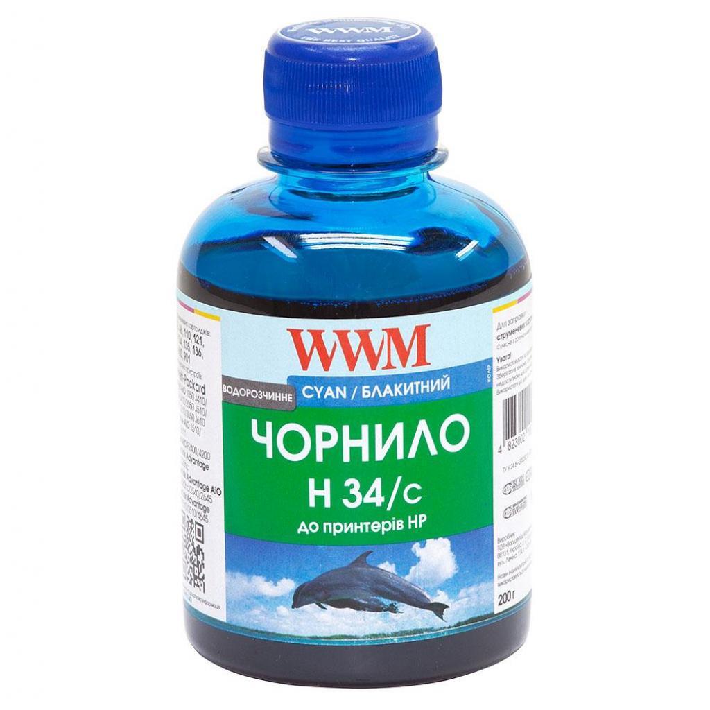Чернила WWM HP № 22/134/136 (8766/9361) cyan (H34/C)