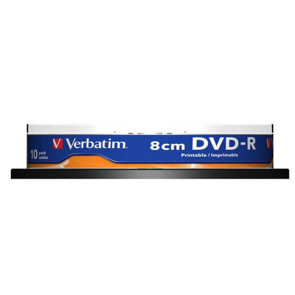 Диск DVD Verbatim 1.46Gb 4X CakeBox 10шт Printable (43573) изображение 2