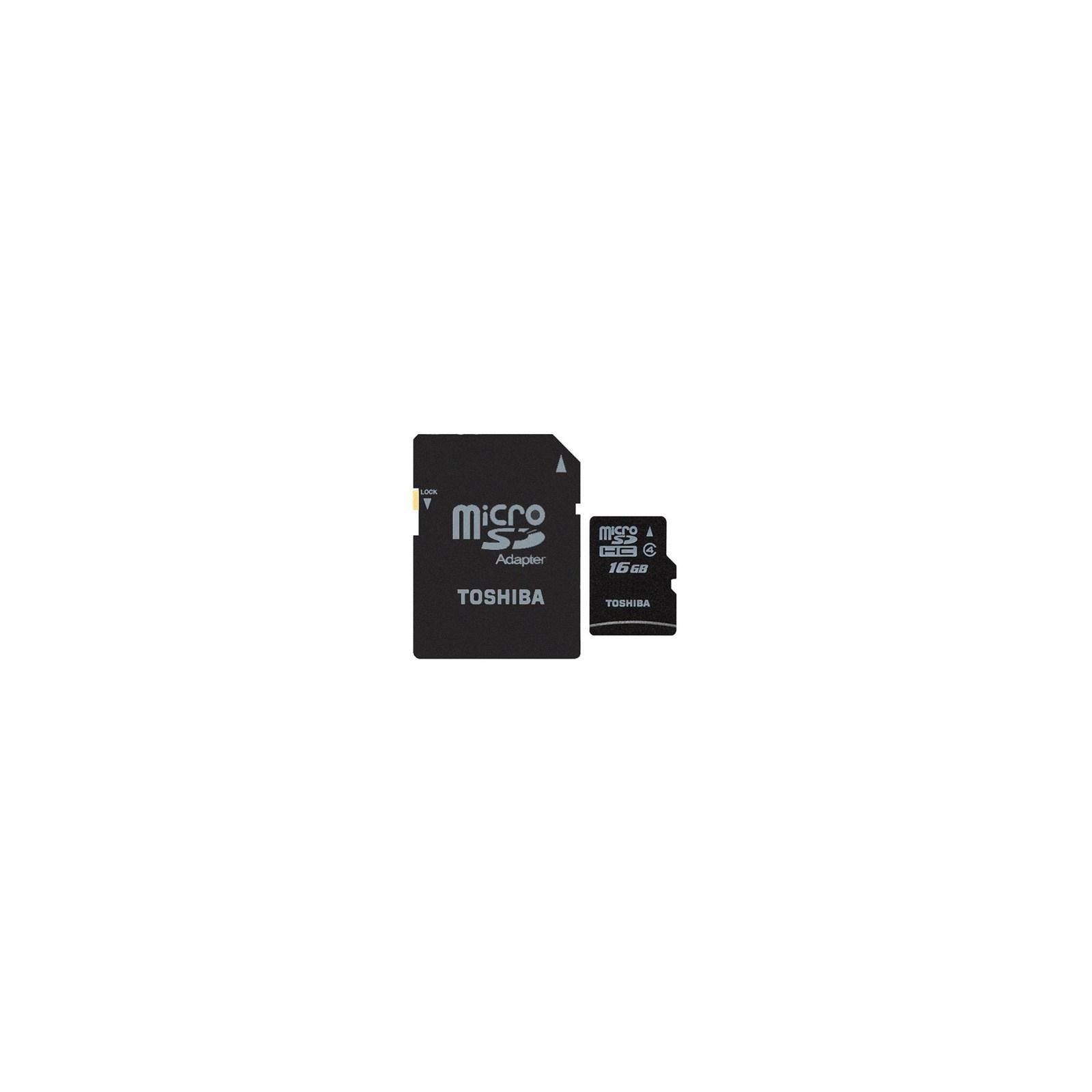Карта памяти TOSHIBA 16Gb microSDHC class 4 (SD-C16GJ(BL5A)