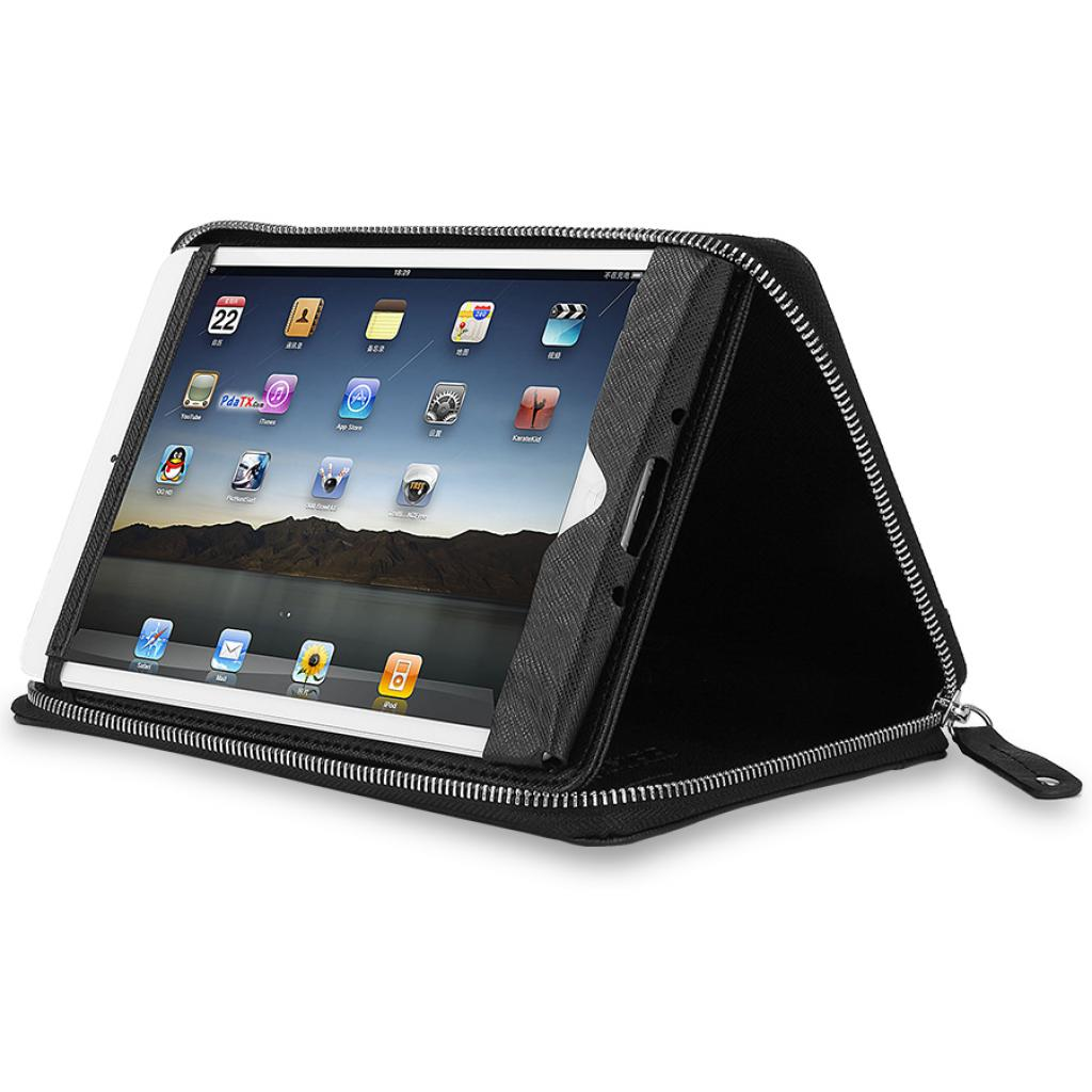"Чехол для планшета PRESTIGIO 7"" Universal BLACK zipper+pocket (PTCL0107BK) изображение 6"