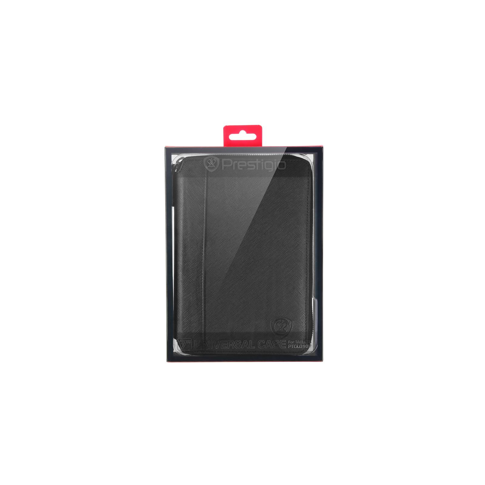 "Чехол для планшета PRESTIGIO 7"" Universal BLACK zipper+pocket (PTCL0107BK) изображение 7"