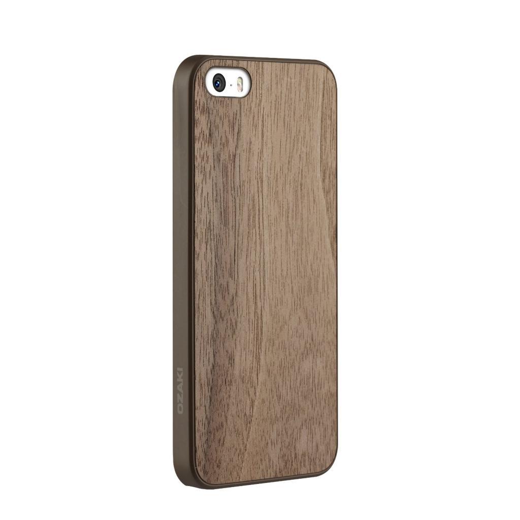Чехол для моб. телефона OZAKI iPhone 5/5S O!coat 0.3+ Wood ultra slim Walnut (OC545WT) изображение 3