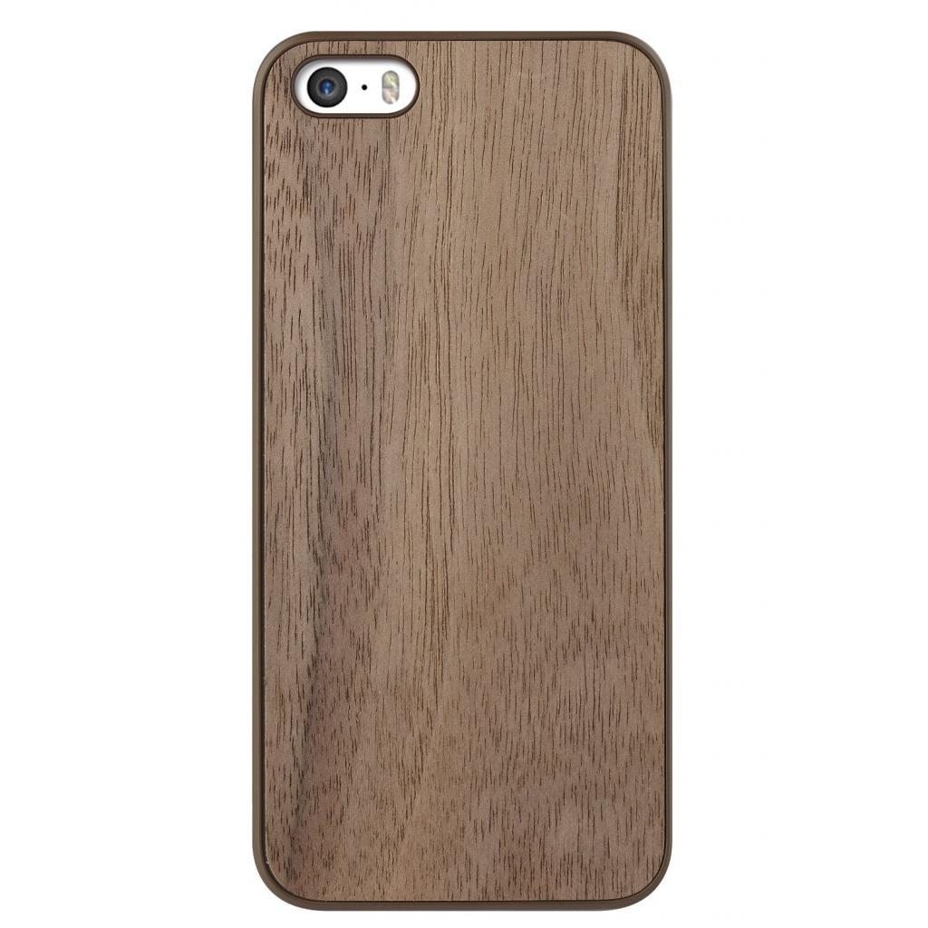 Чехол для моб. телефона OZAKI iPhone 5/5S O!coat 0.3+ Wood ultra slim Walnut (OC545WT)