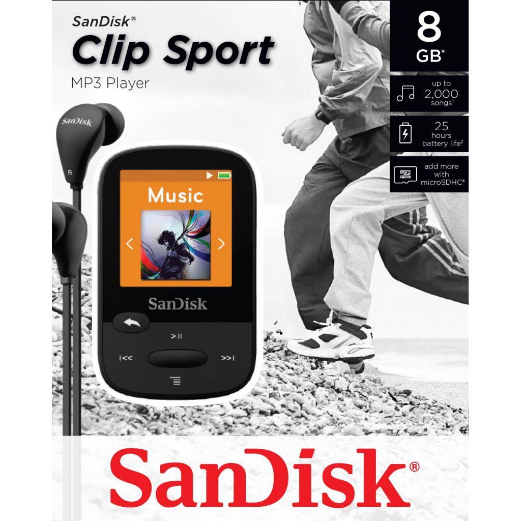 mp3 плеер SANDISK Sansa Clip Sport 8GB Black (SDMX24-008G-G46K) изображение 5