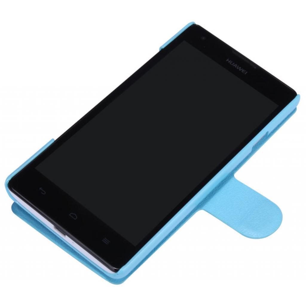 Чехол для моб. телефона NILLKIN для Huawei G700/Fresh/ Leather/Blue (6076854) изображение 2