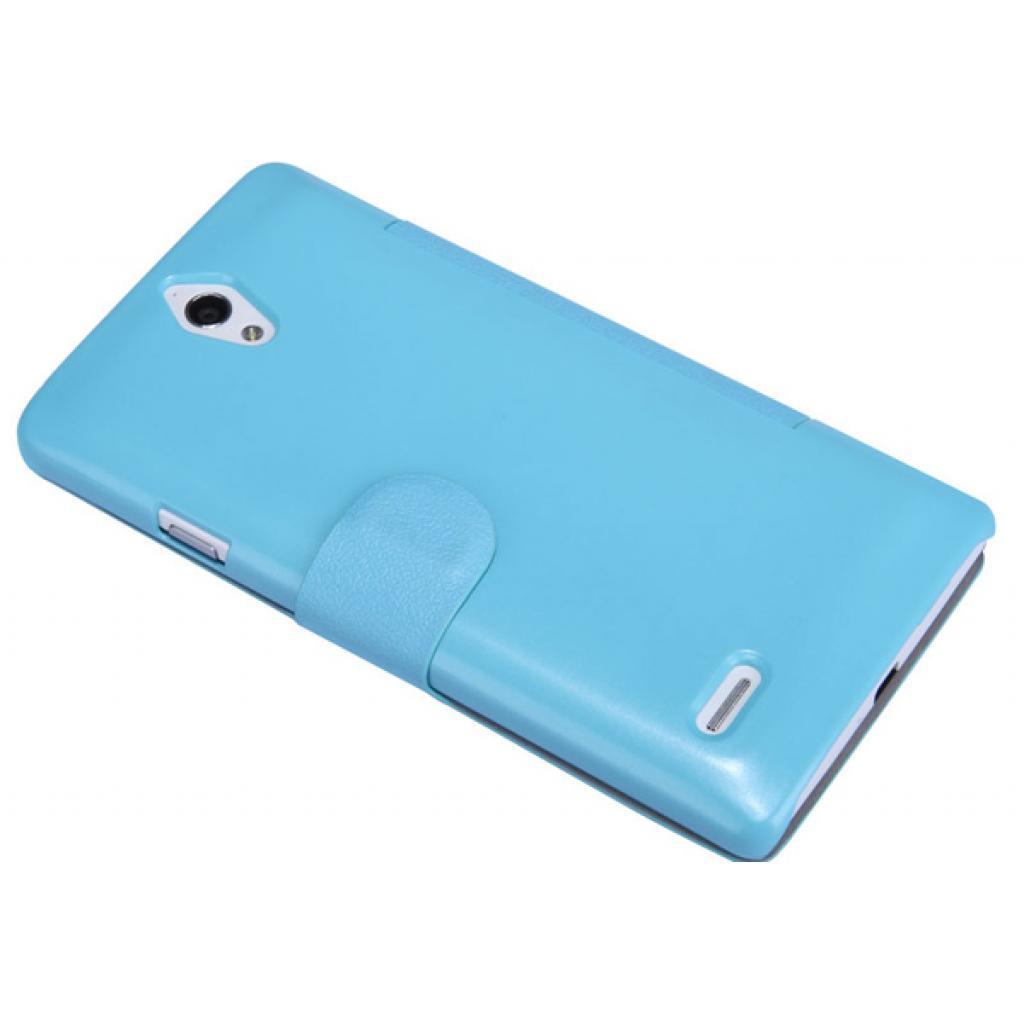 Чехол для моб. телефона NILLKIN для Huawei G700/Fresh/ Leather/Blue (6076854) изображение 3