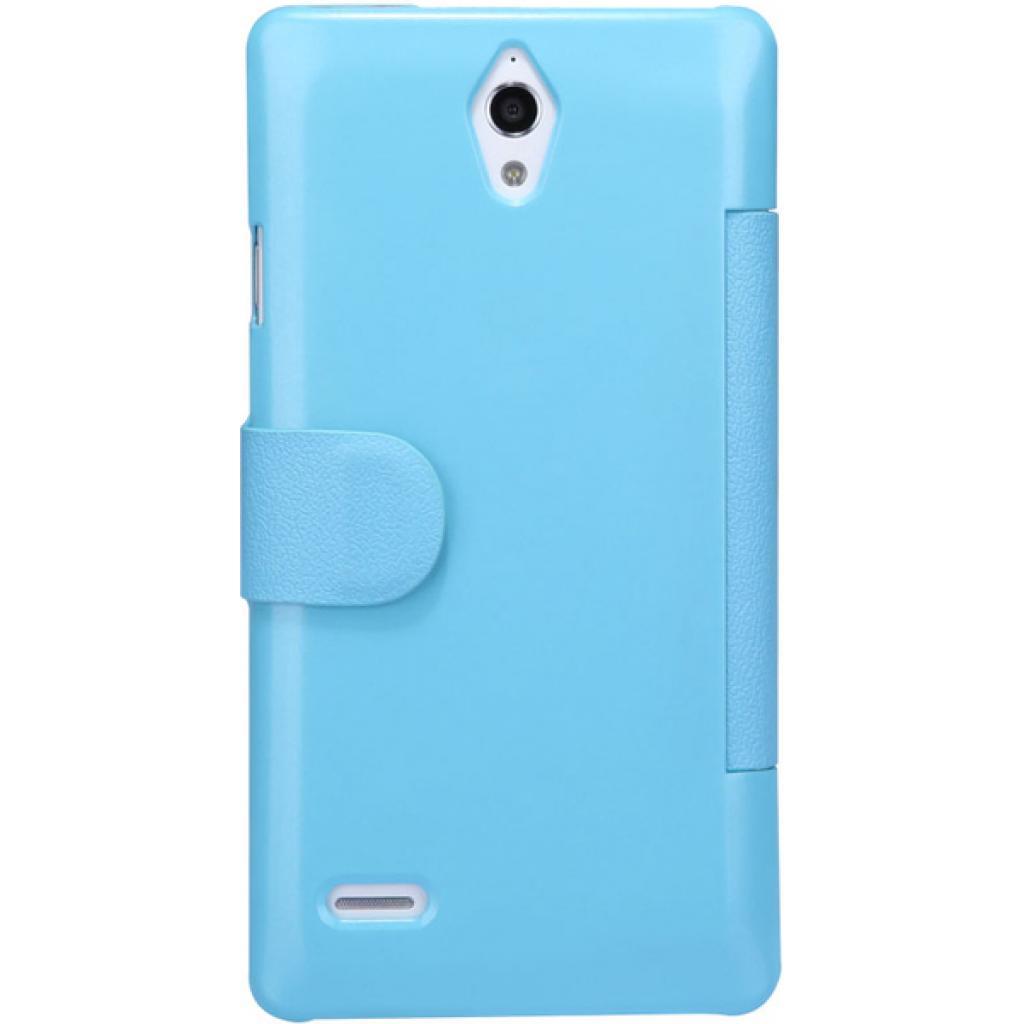 Чехол для моб. телефона NILLKIN для Huawei G700/Fresh/ Leather/Blue (6076854) изображение 4