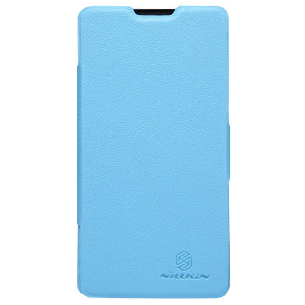 Чехол для моб. телефона NILLKIN для Huawei G700/Fresh/ Leather/Blue (6076854)