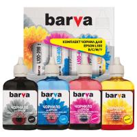 Чернила BARVA EPSON L100/L210/L300/L350/L355 B/C/M/Y 4х90г (E-L100-090-MP)