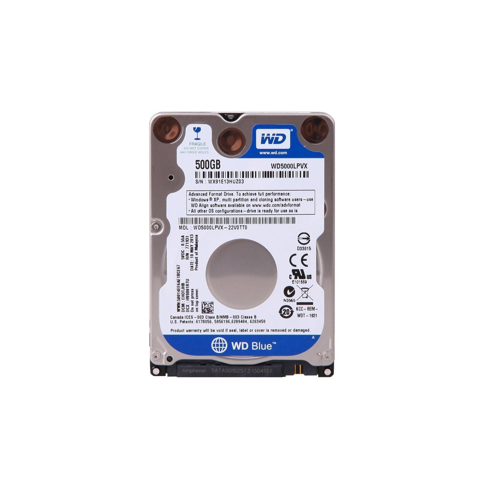 """Жесткий диск для ноутбука 2.5"""" 500GB WD (WD5000LPCX)"""