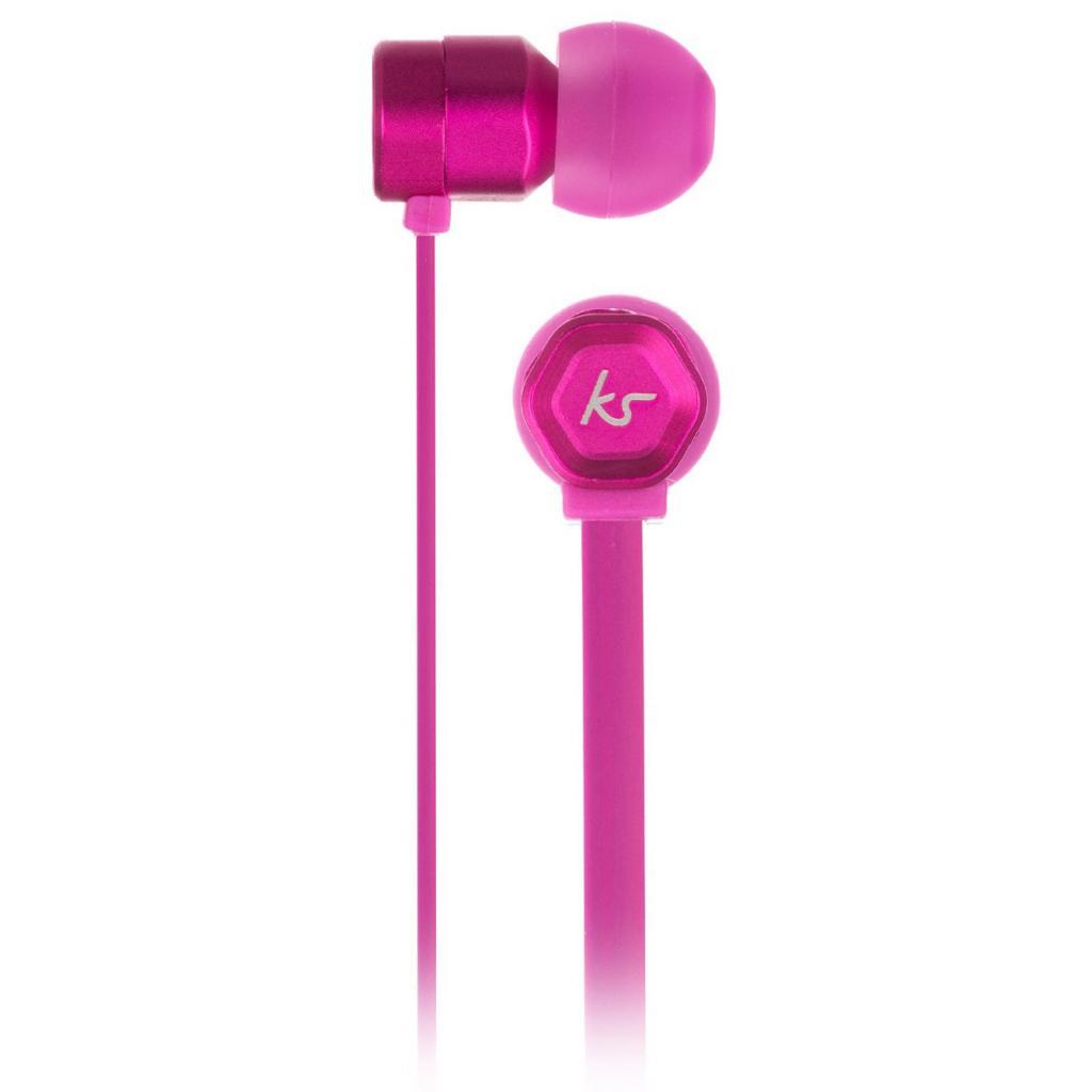 Наушники KitSound KS Hive Buds Earphones with Mic Pink (KSHIVBPI) изображение 3
