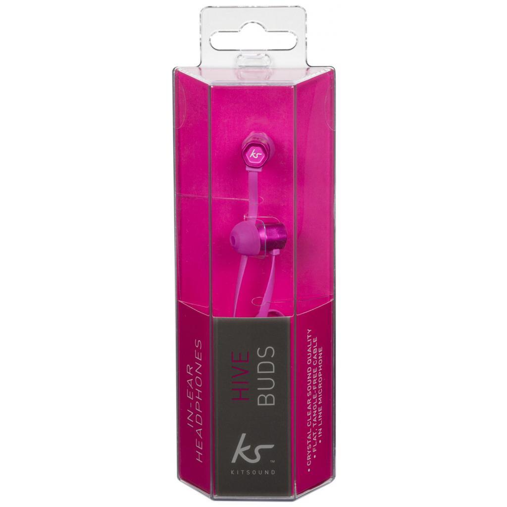 Наушники KitSound KS Hive Buds Earphones with Mic Pink (KSHIVBPI) изображение 6