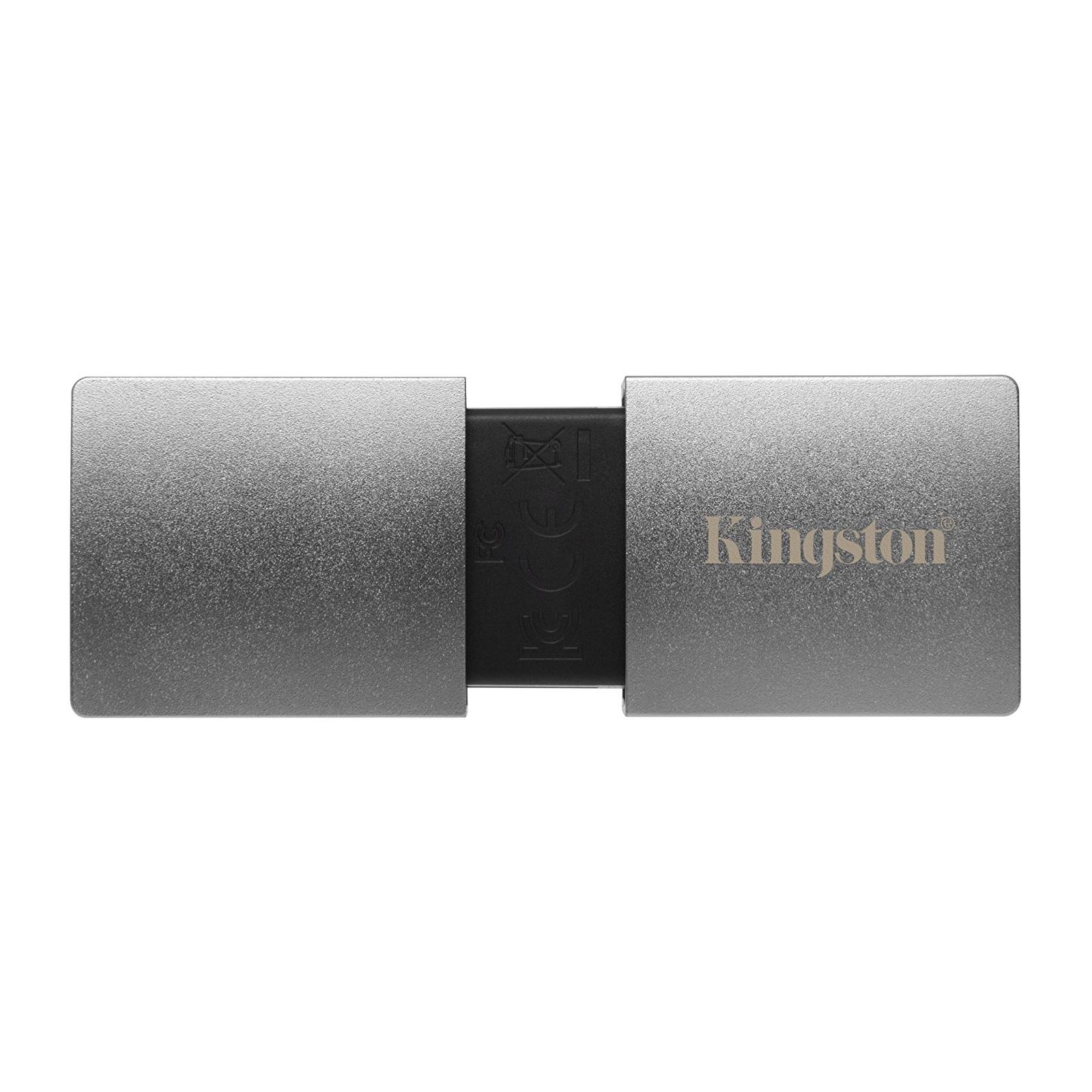USB флеш накопитель Kingston 2TB DataTraveler Ultimate GT Metal Silver USB 3.1 (DTUGT/2TB) изображение 2
