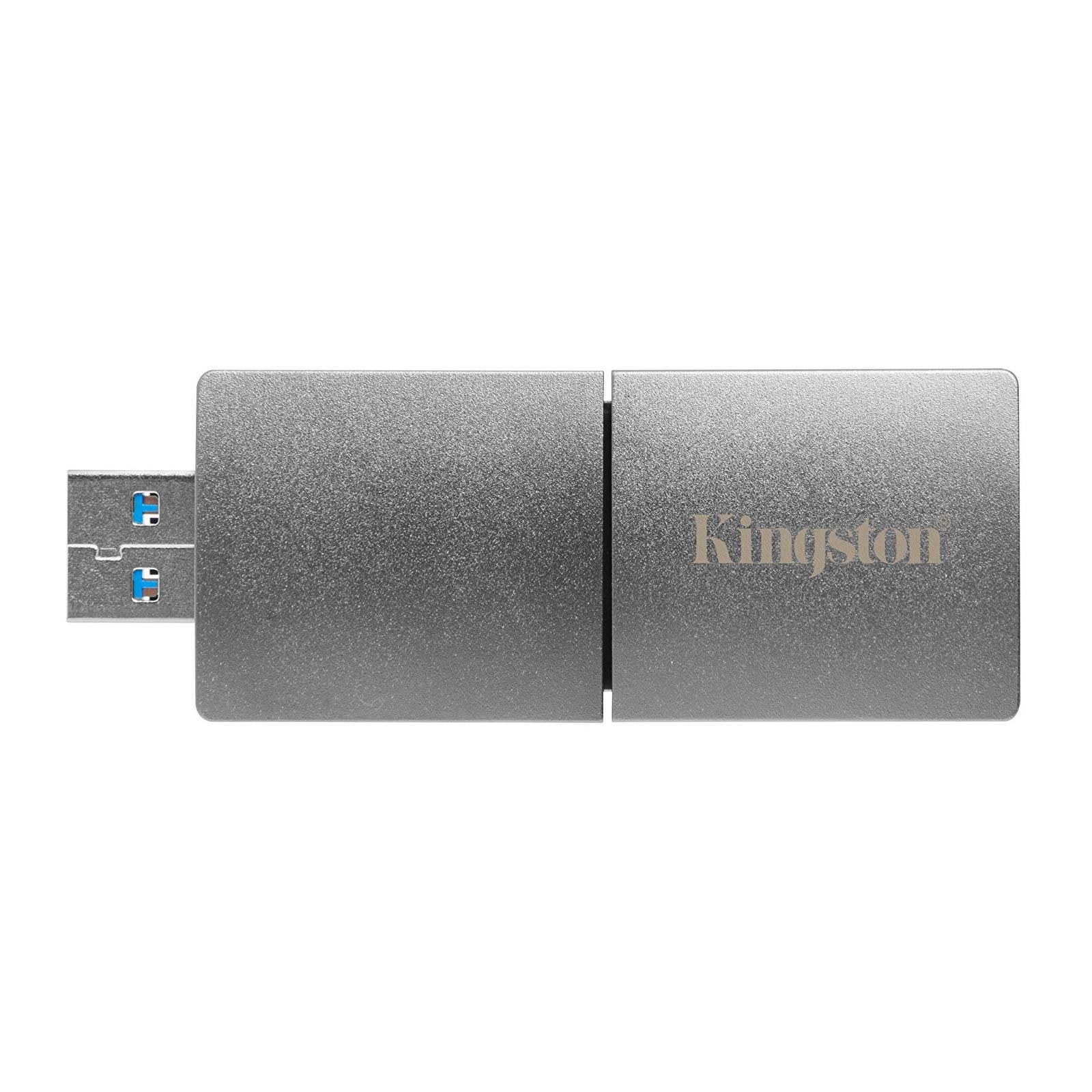 USB флеш накопитель Kingston 2TB DataTraveler Ultimate GT Metal Silver USB 3.1 (DTUGT/2TB) изображение 4