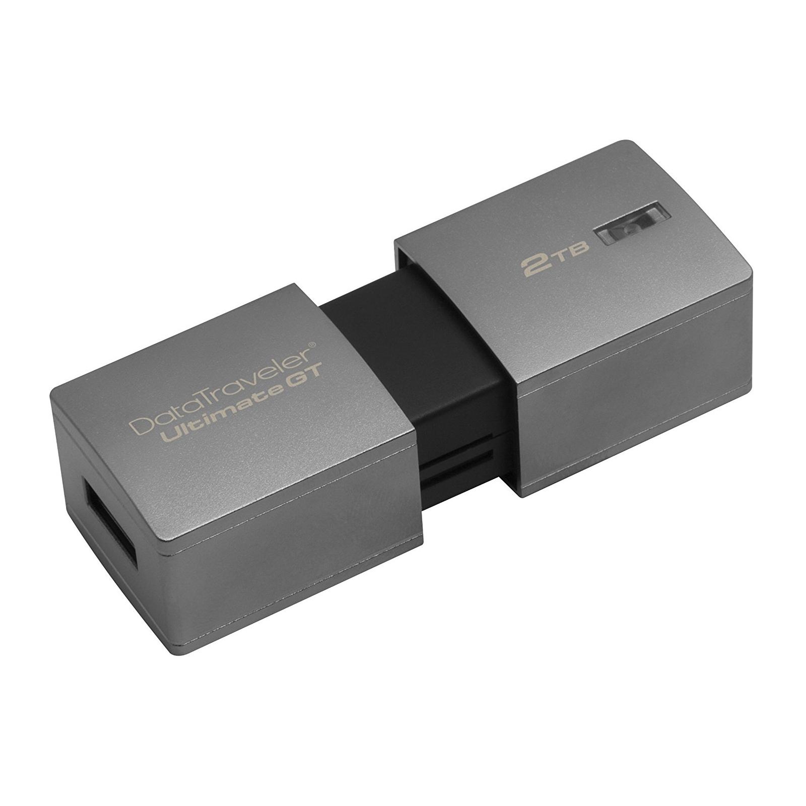 USB флеш накопитель Kingston 2TB DataTraveler Ultimate GT Metal Silver USB 3.1 (DTUGT/2TB) изображение 5