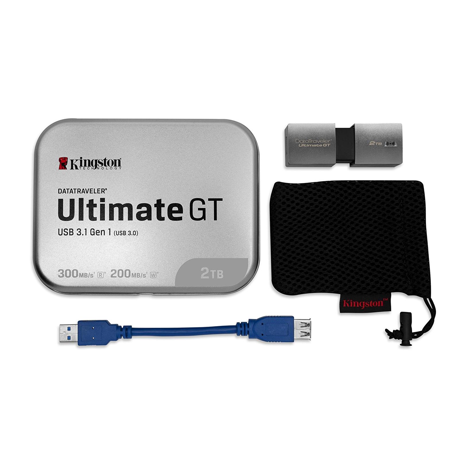 USB флеш накопитель Kingston 2TB DataTraveler Ultimate GT Metal Silver USB 3.1 (DTUGT/2TB) изображение 7