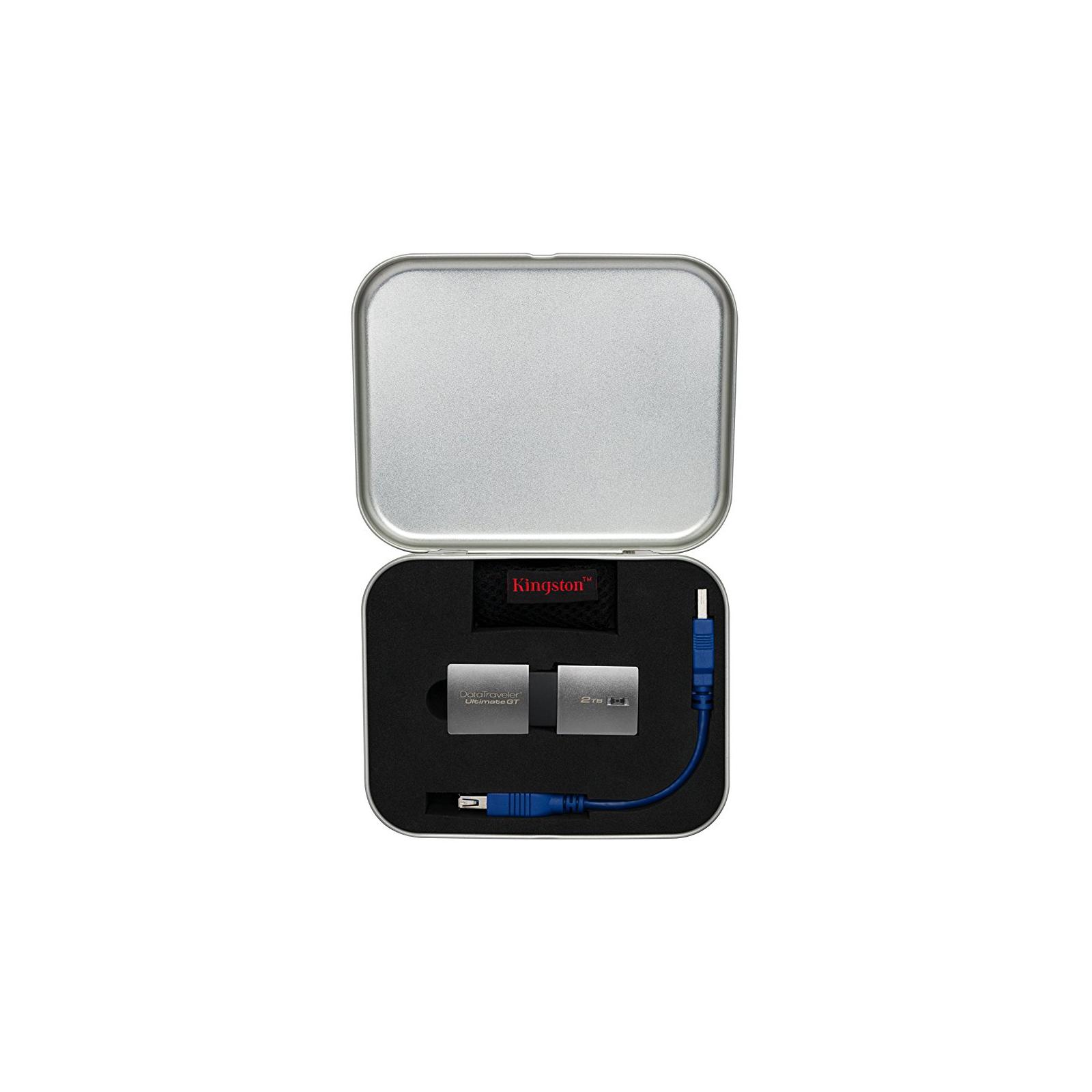 USB флеш накопитель Kingston 2TB DataTraveler Ultimate GT Metal Silver USB 3.1 (DTUGT/2TB) изображение 8