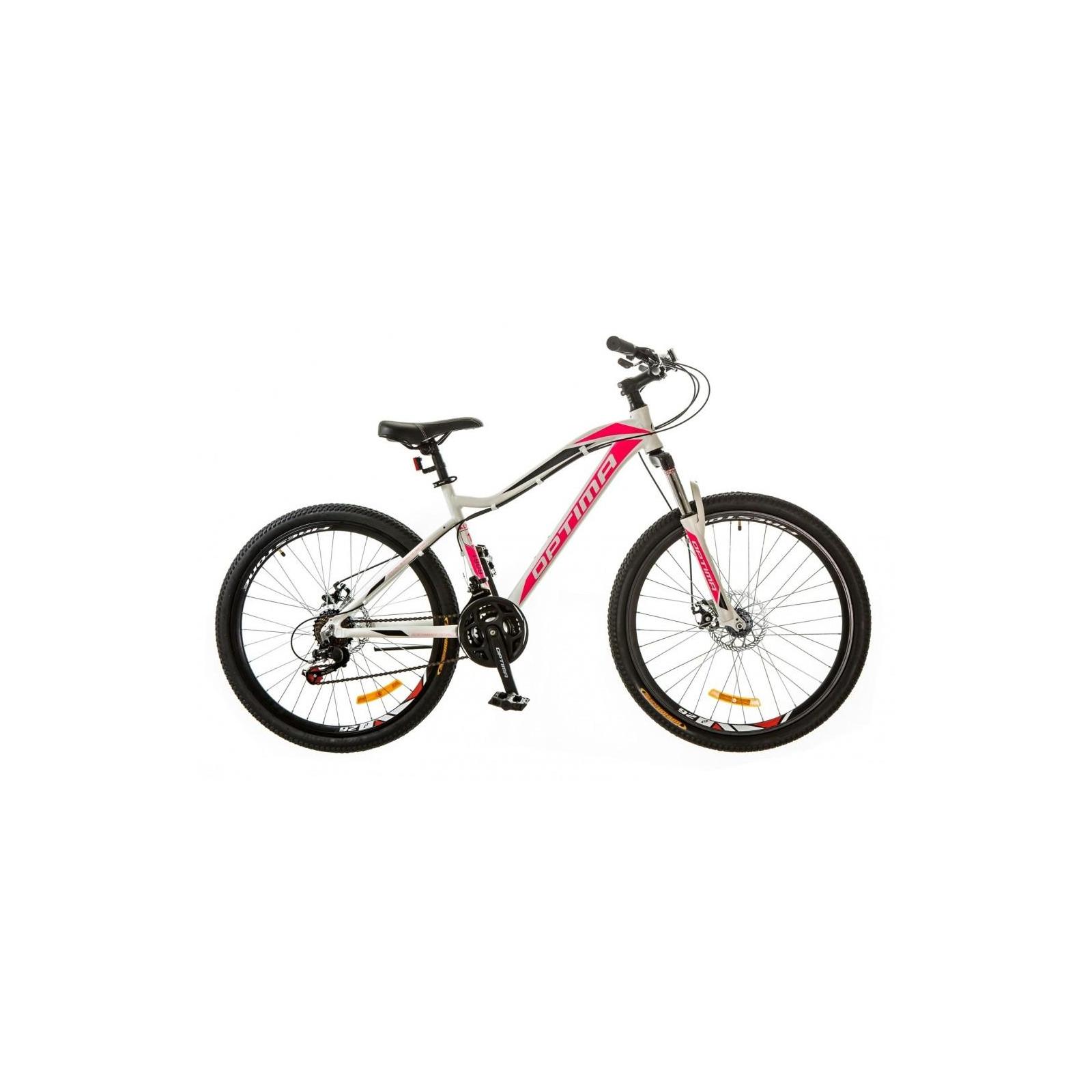 "Велосипед Optimabikes 26"" ALPINA 2018 AM 14G DD рама-16"" Al бело-розовый (OPS-OP-26-105)"