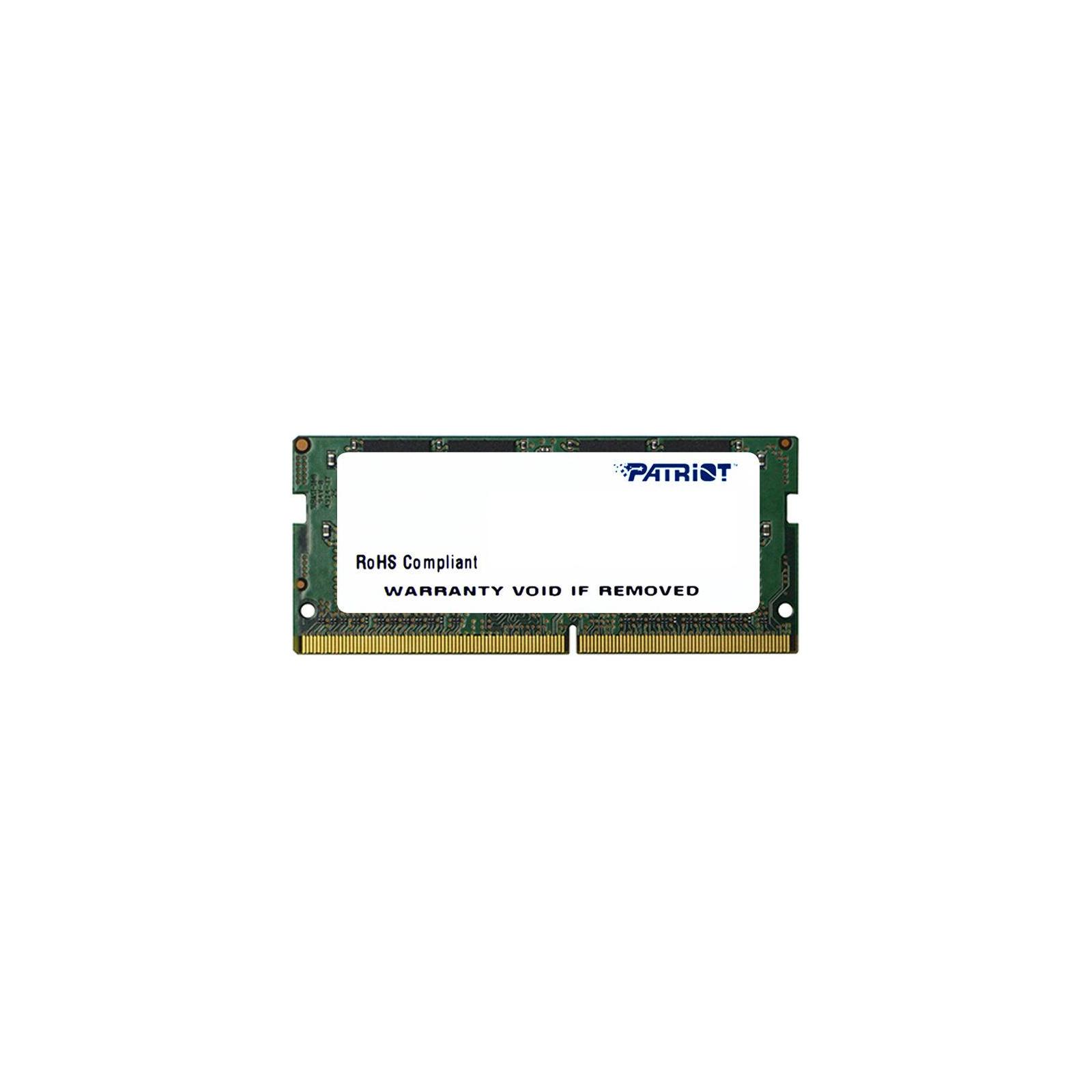 Модуль памяти для ноутбука SoDIMM DDR4 4GB 2133 MHz Patriot (PSD44G213341S)