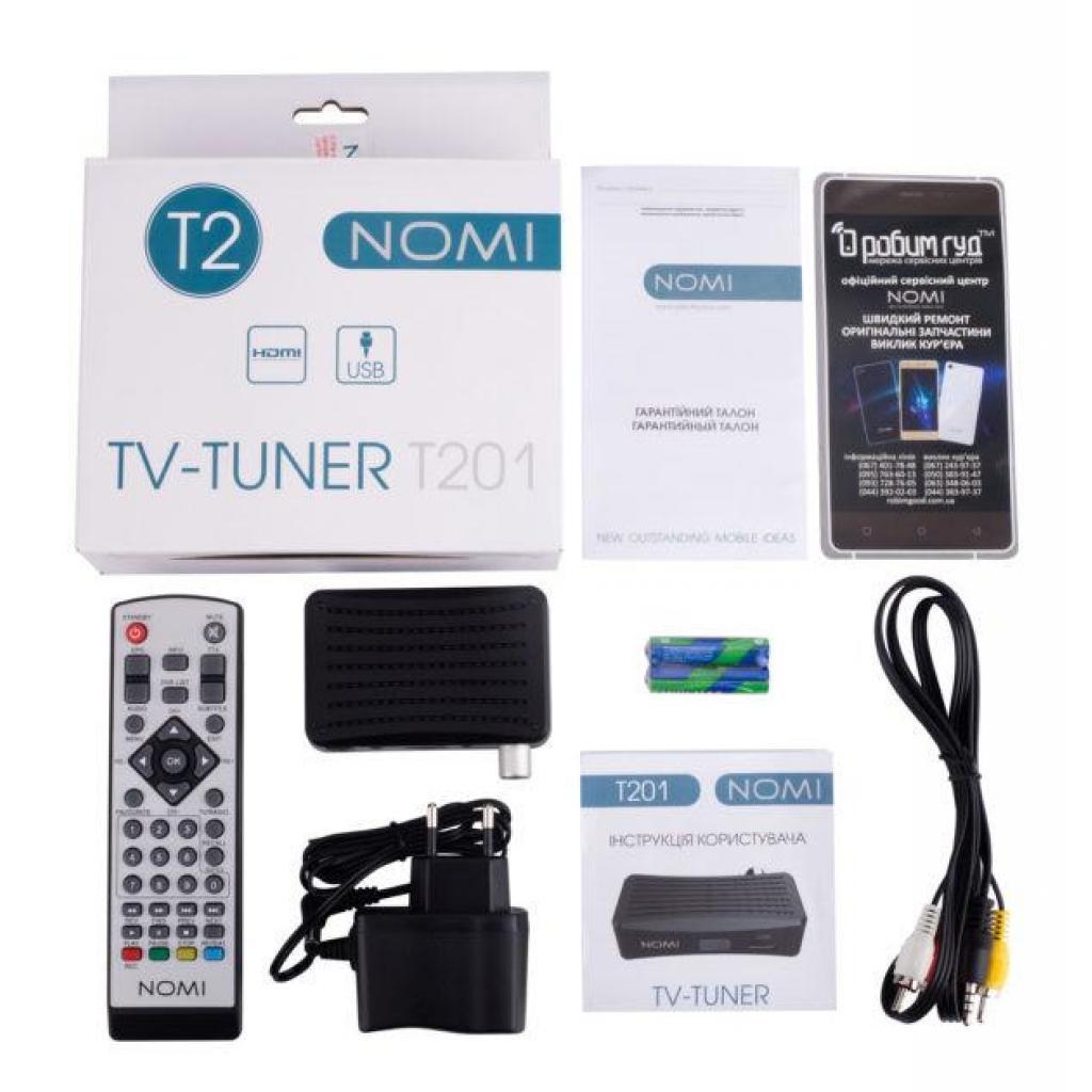 ТВ тюнер Nomi DVB-T2 T201 (238688) изображение 6