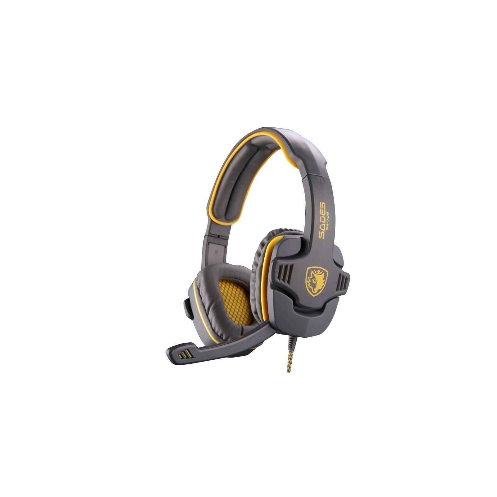 Наушники SADES Gpower Grey/Yellow (SA708-G-Y) изображение 2