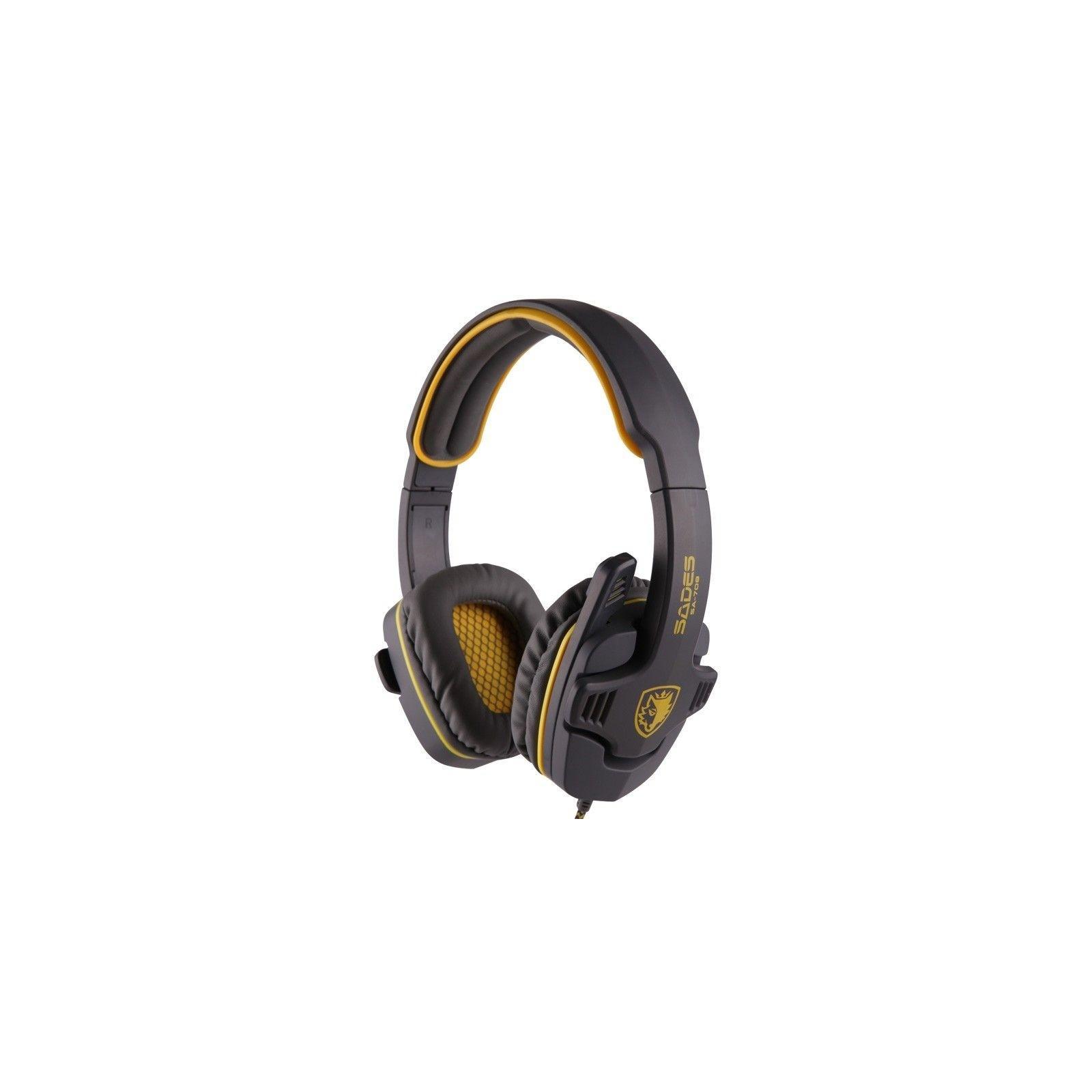 Наушники SADES Gpower Grey/Yellow (SA708-G-Y)