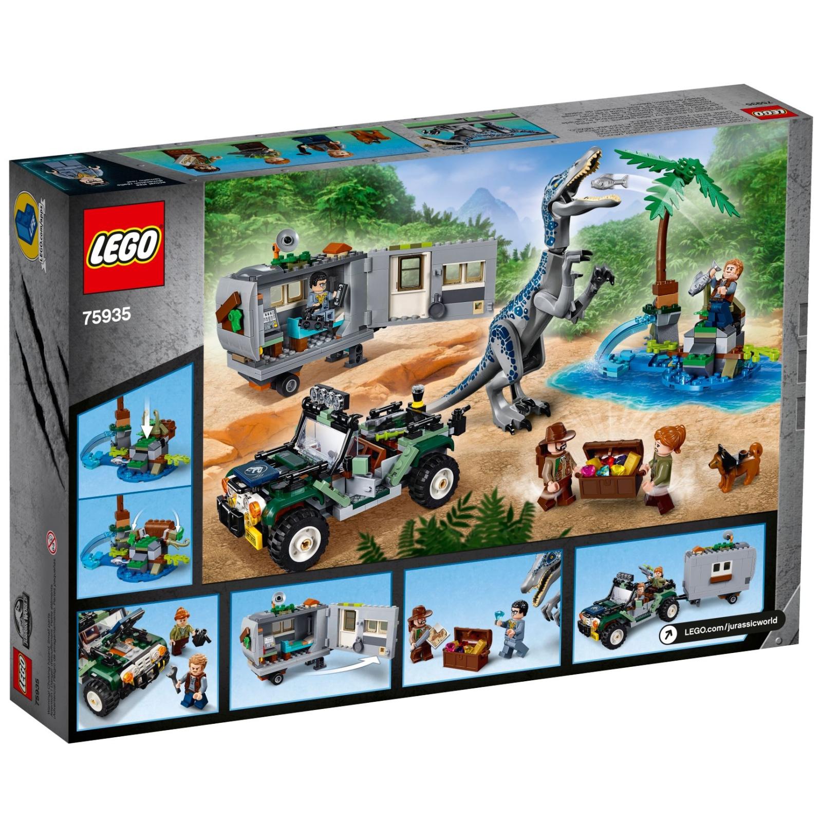 Конструктор LEGO Jurassic World Поединок с бариониксом: охота за сокровищами (75935) изображение 10
