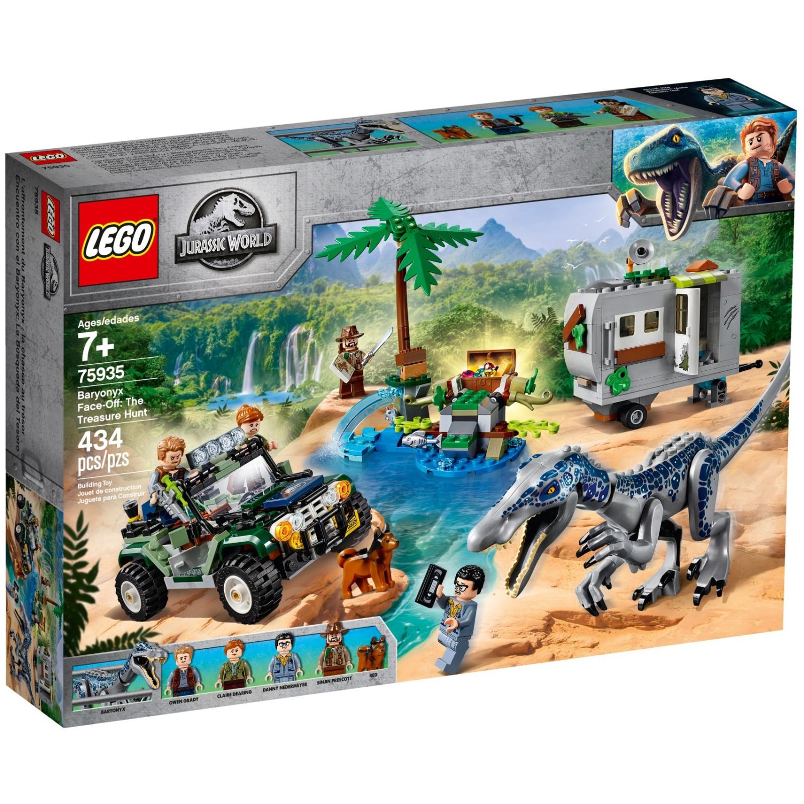 Конструктор LEGO Jurassic World Поединок с бариониксом: охота за сокровищами (75935)