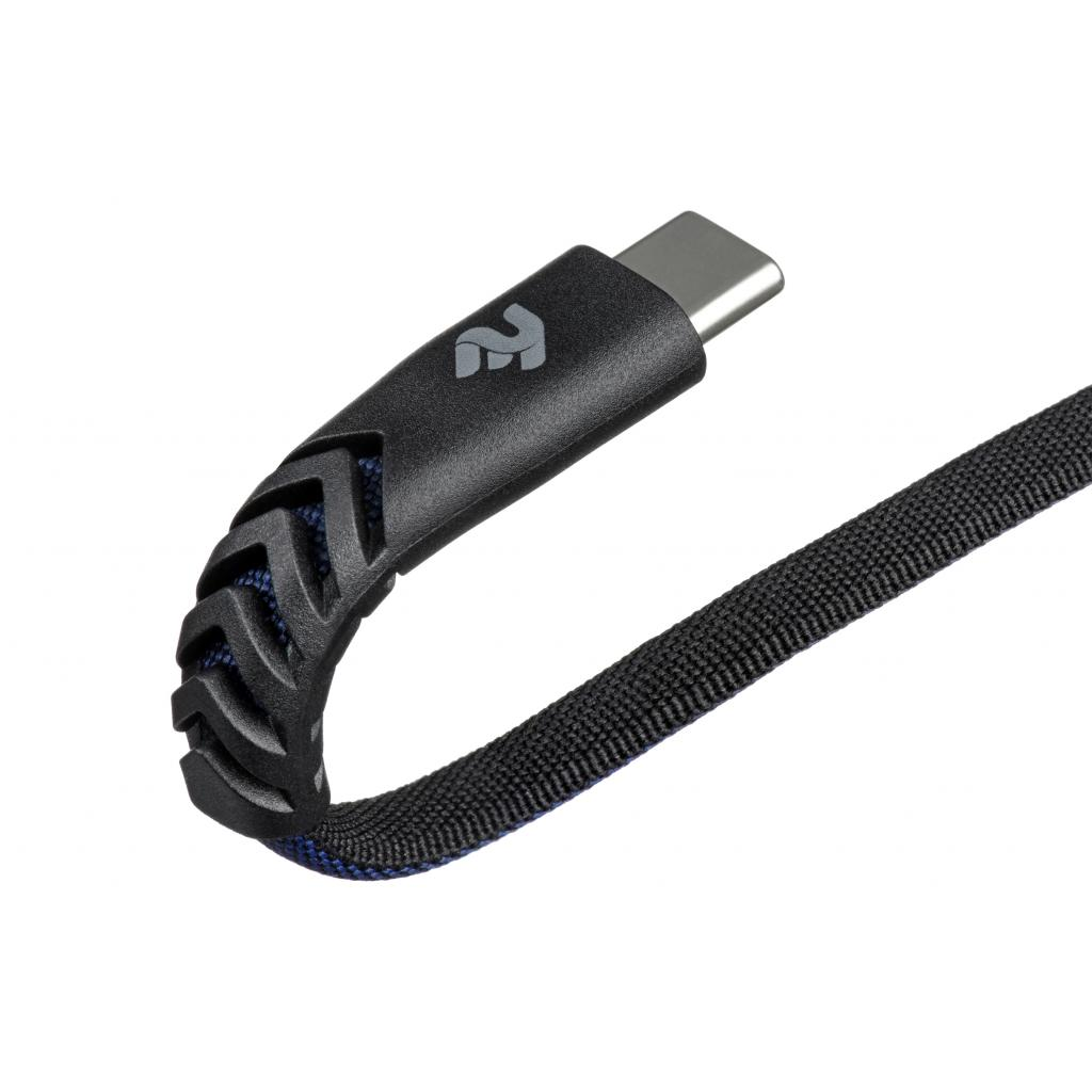 Дата кабель USB 2.0 AM to Type-C 1.0m Flat fabric urban, black/blue 2E (2E-CCTT-1MBL) изображение 3
