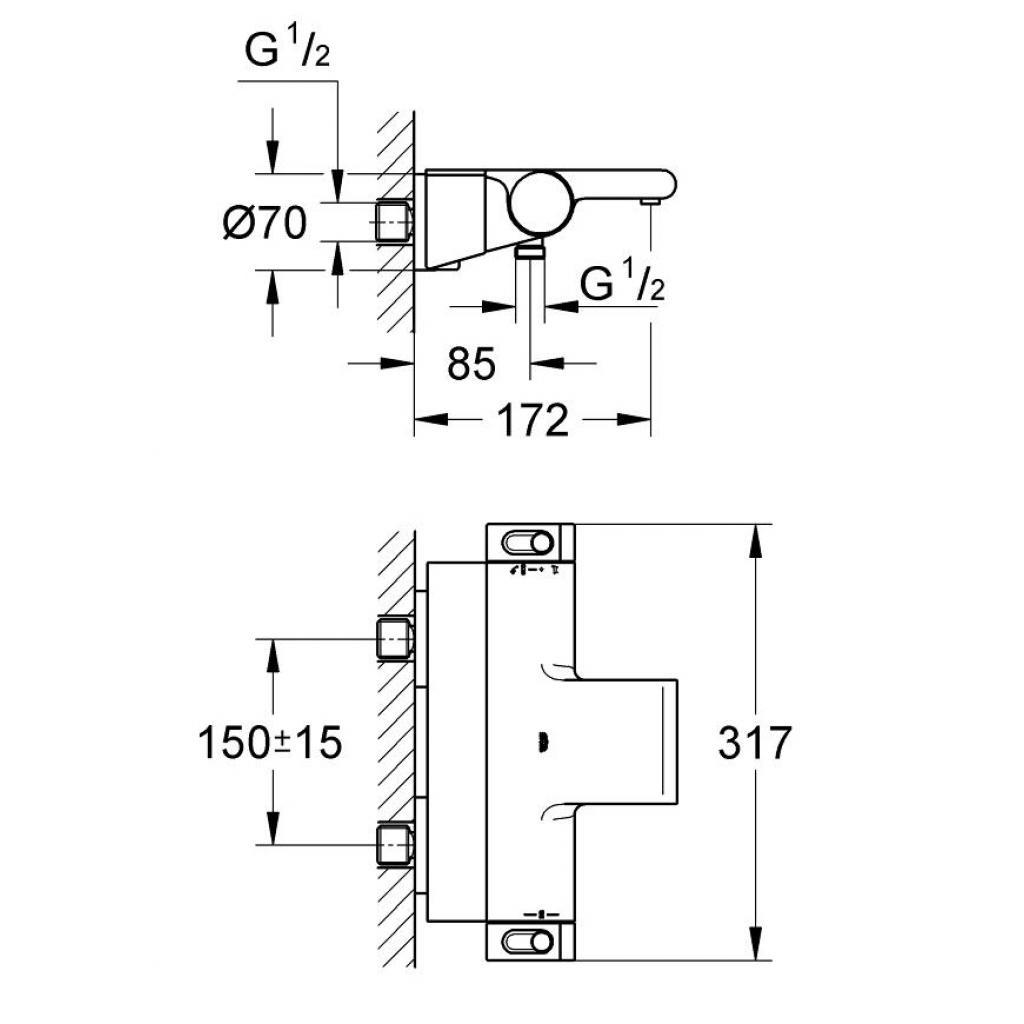 Термостатический смеситель Grohe GRT 2000 (34464001) изображение 3
