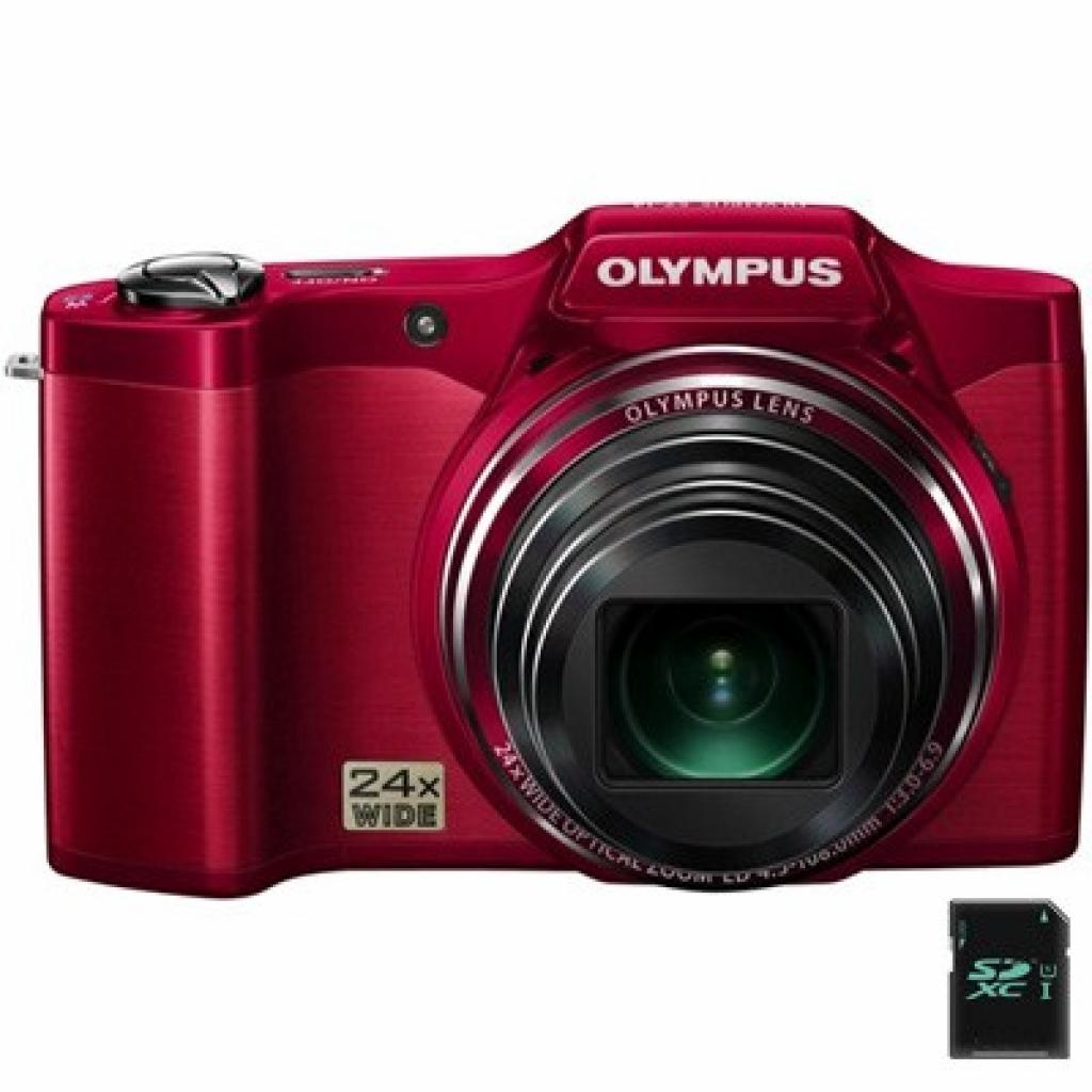 Цифровой фотоаппарат OLYMPUS SZ-14 red (V102080RE000)