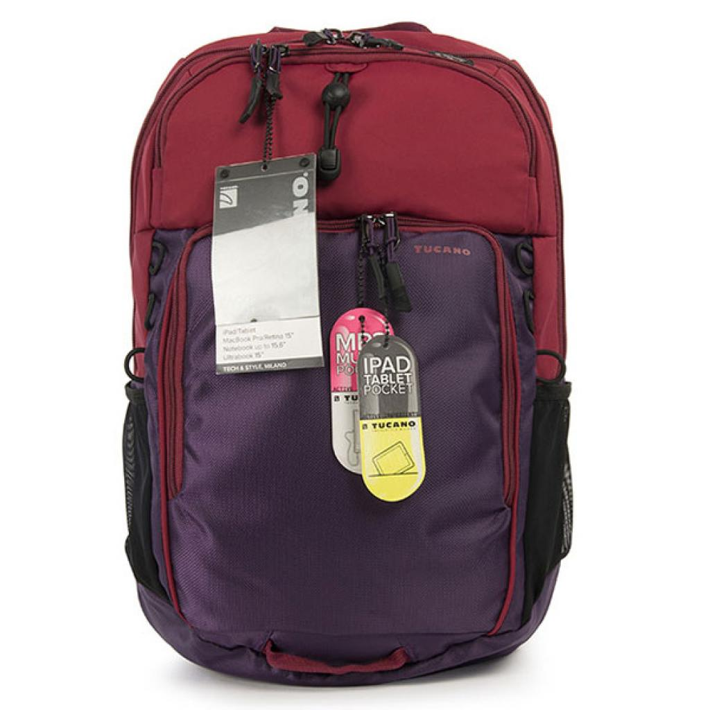 Рюкзак для ноутбука Tucano 15.6 Tech-Yo BackPack /Red-Purple (BKTY-RP) изображение 4