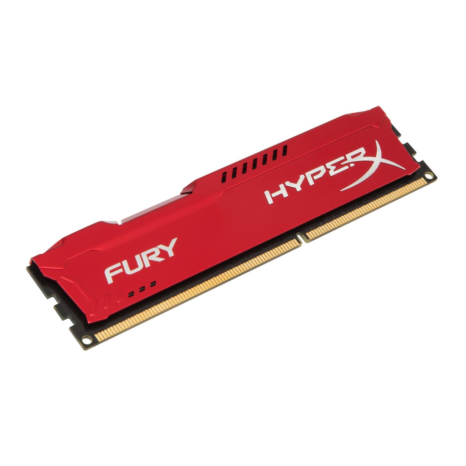 Модуль памяти для компьютера DDR3 4Gb 1866 MHz HyperX Fury Red Kingston (HX318C10FR/4) изображение 2