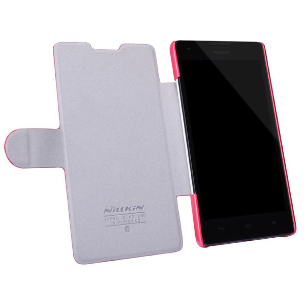 Чехол для моб. телефона NILLKIN для Huawei G700/Fresh/ Leather/Red (6076855) изображение 2