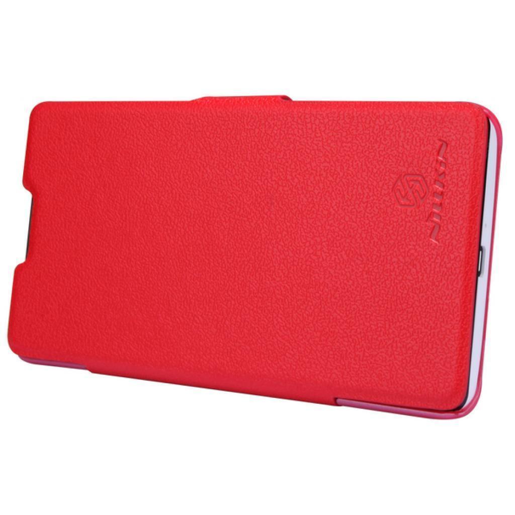 Чехол для моб. телефона NILLKIN для Huawei G700/Fresh/ Leather/Red (6076855) изображение 3