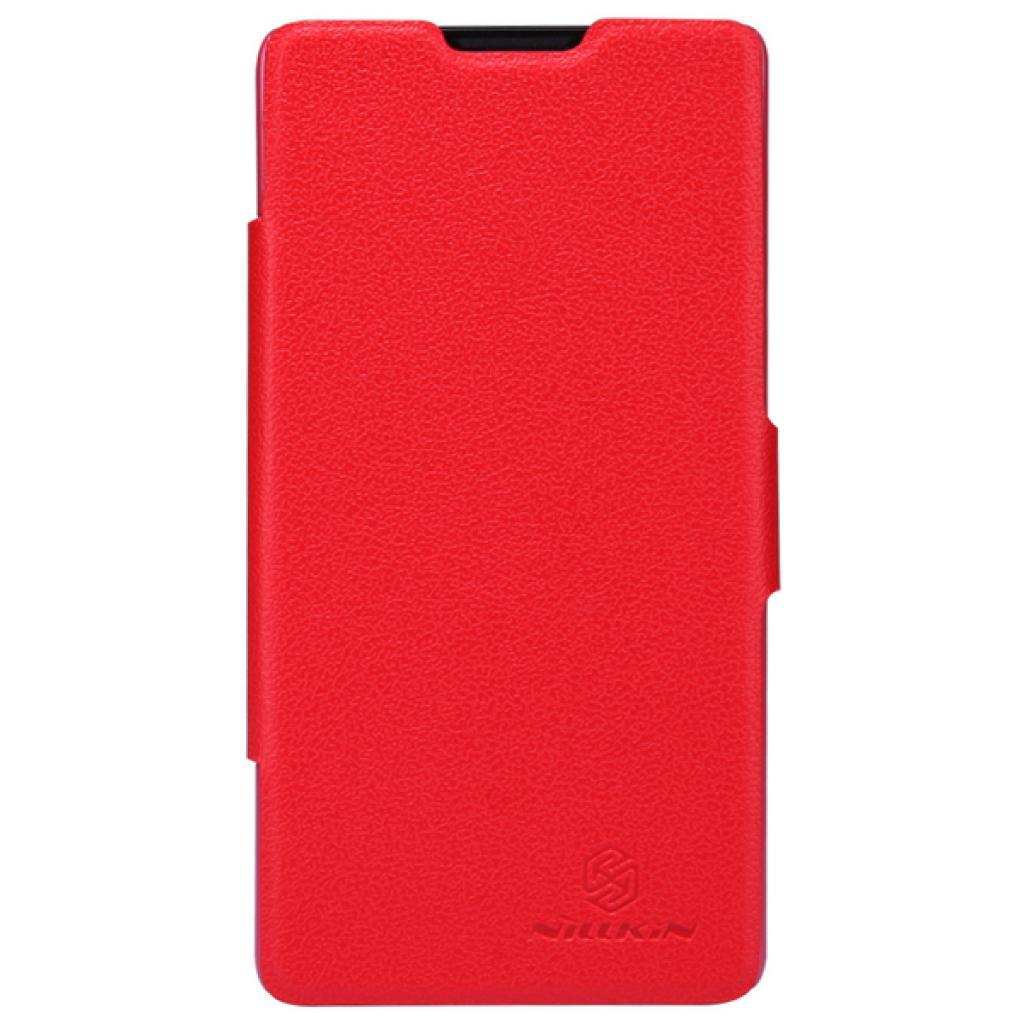 Чехол для моб. телефона NILLKIN для Huawei G700/Fresh/ Leather/Red (6076855)
