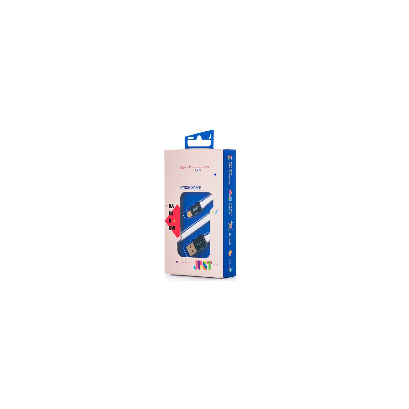Дата кабель JUST Rainbow Lightning USB Cable White (LGTNG-RNBW-WHT) изображение 2