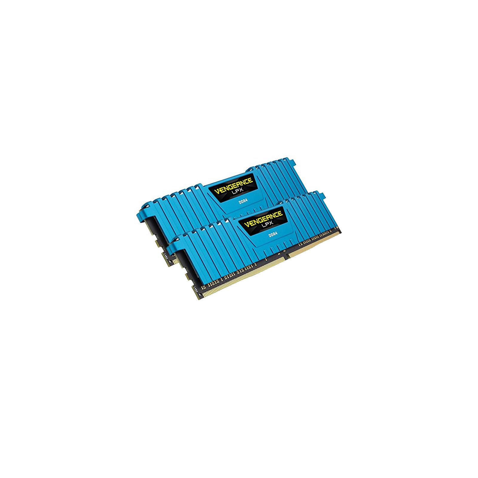 Модуль памяти для компьютера DDR4 16GB (2x8GB) 3000 MHz Vengeance LPX Blue Corsair (CMK16GX4M2B3000C15B) изображение 3