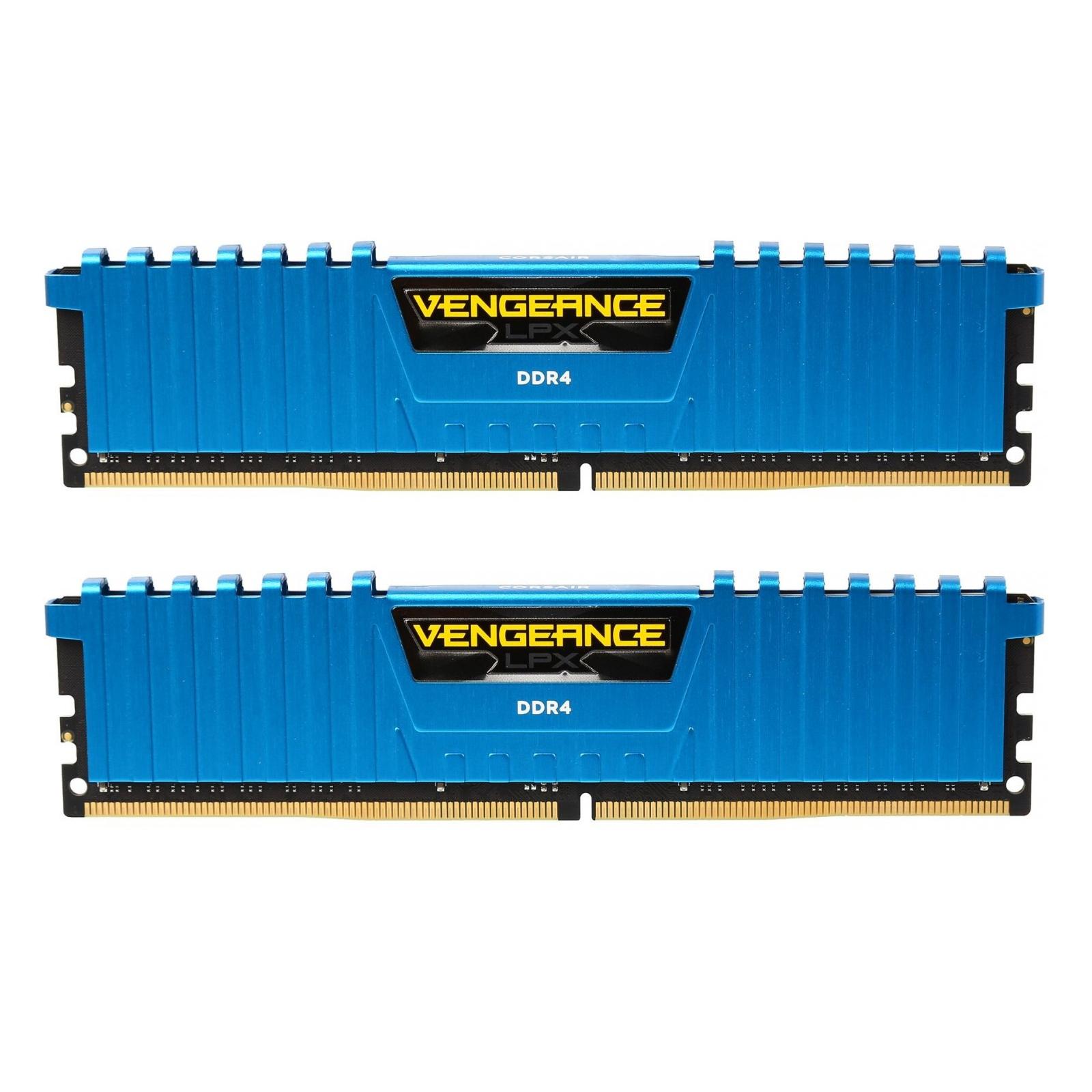 Модуль памяти для компьютера DDR4 16GB (2x8GB) 3000 MHz Vengeance LPX Blue Corsair (CMK16GX4M2B3000C15B)