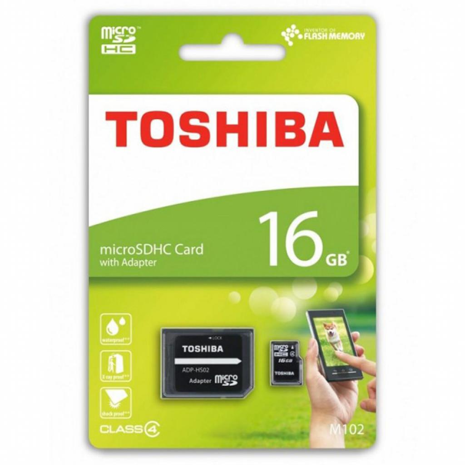 Карта памяти TOSHIBA 16GB microSDHC Class 4 (THN-M102K0160M2) изображение 2